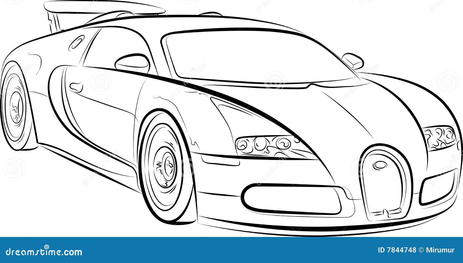 Tekening van de auto vector illustratie. Afbeelding ...