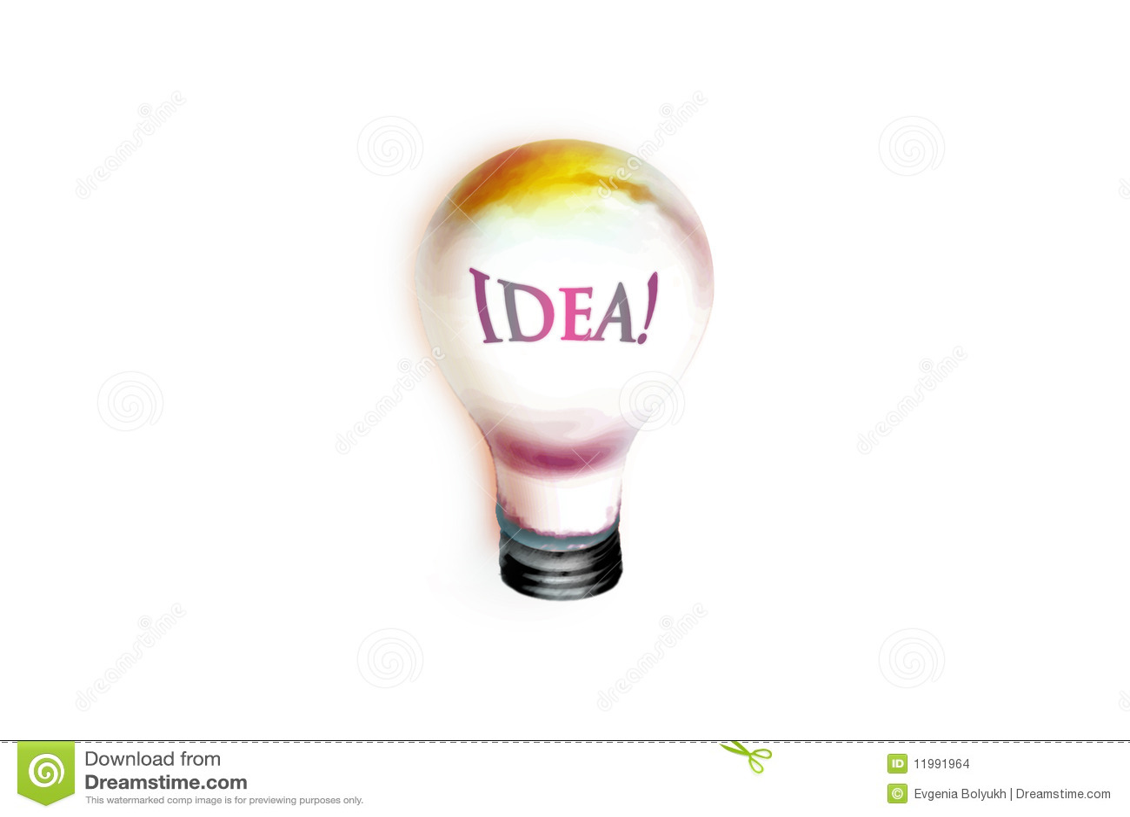Tekening van grote idee gloeilamp stock illustratie afbeelding 11991964 - Idee van zolderruimte ...