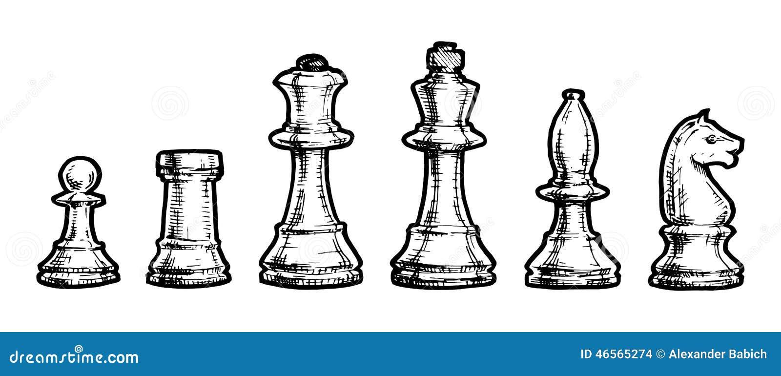 P Kleurplaat Paard Tekening Van Schaak Vector Illustratie Illustratie