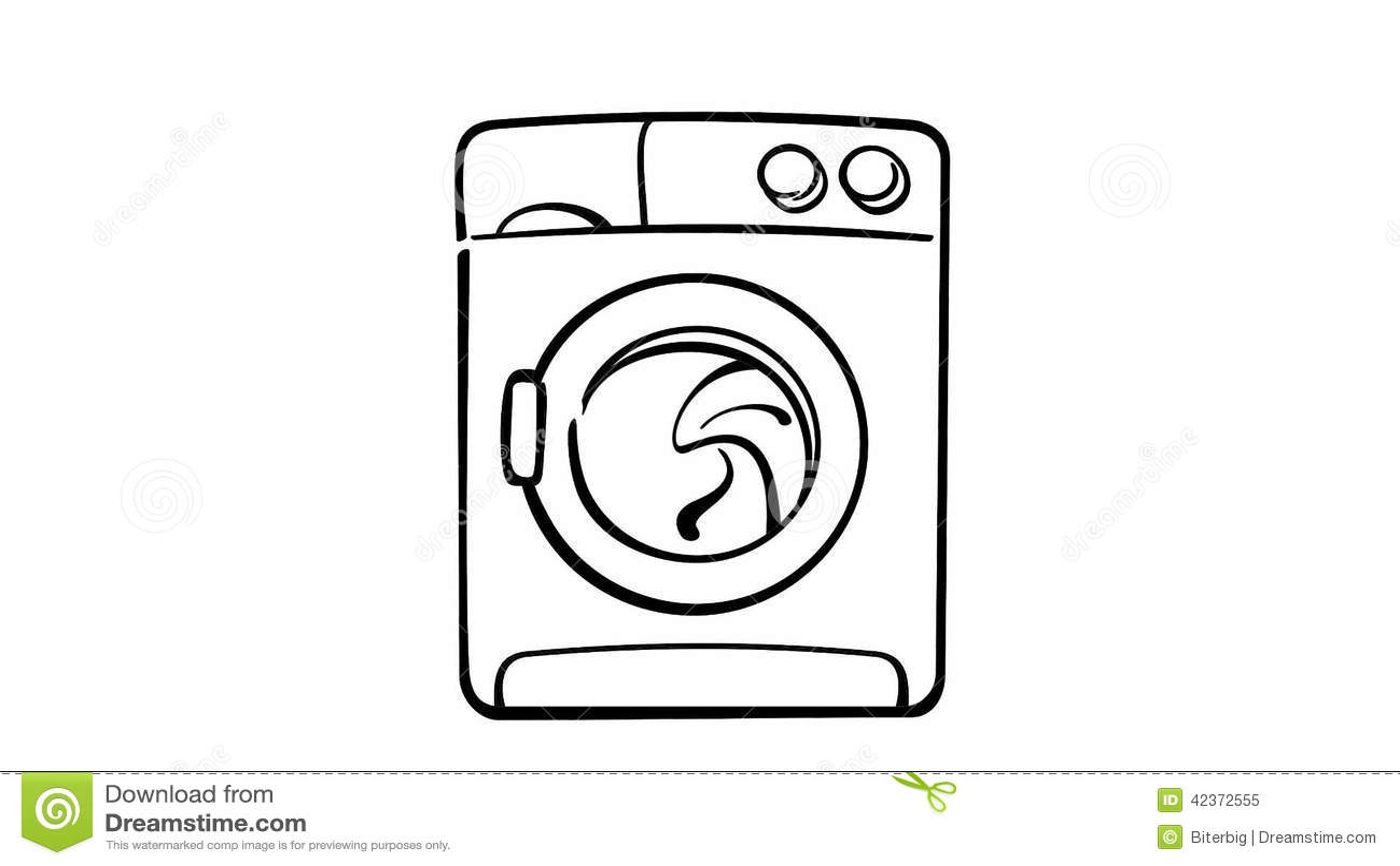 tekening wasmachine op wit stock videobeelden 2