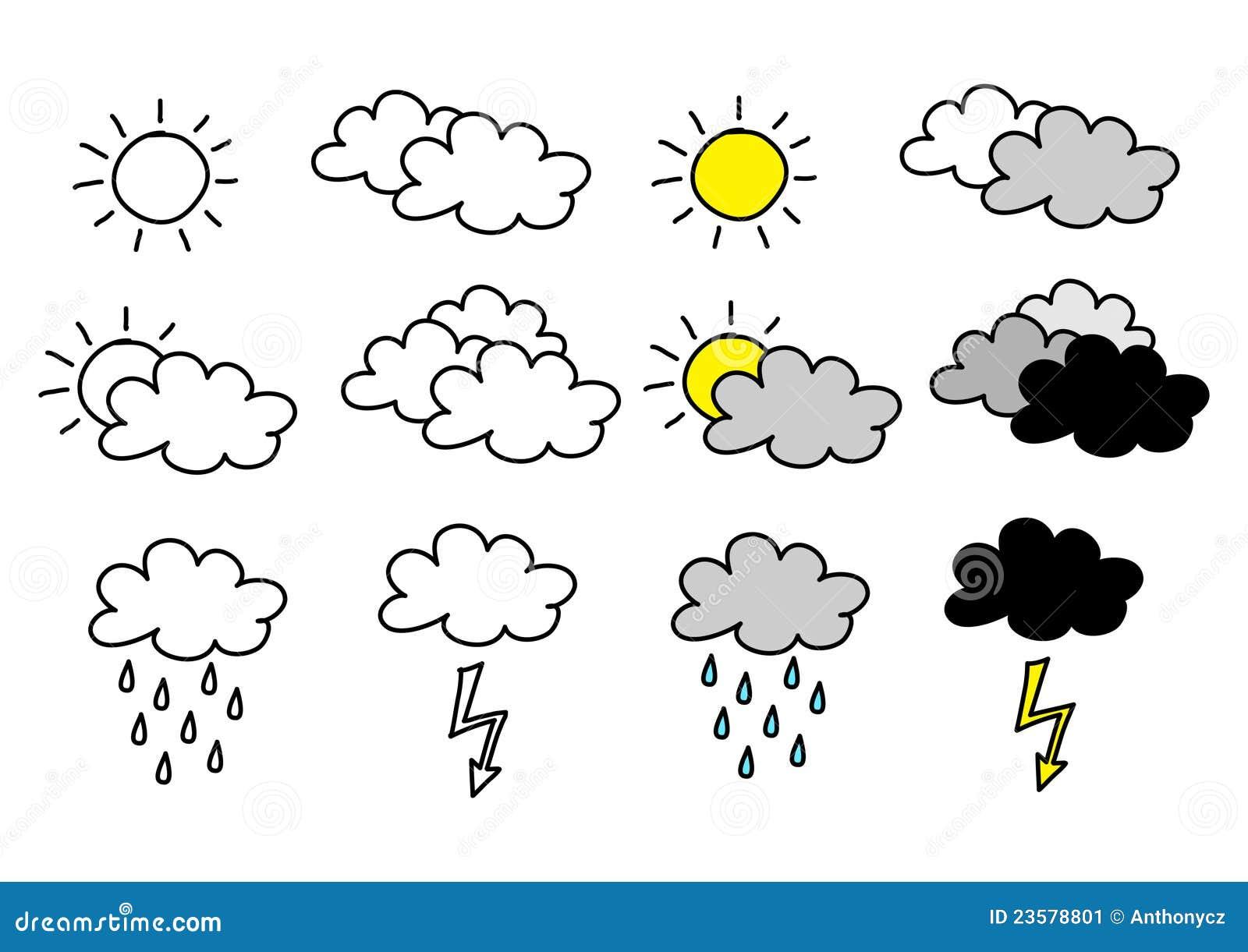Tekening Van Wolken Stock Afbeelding Afbeelding 23578801