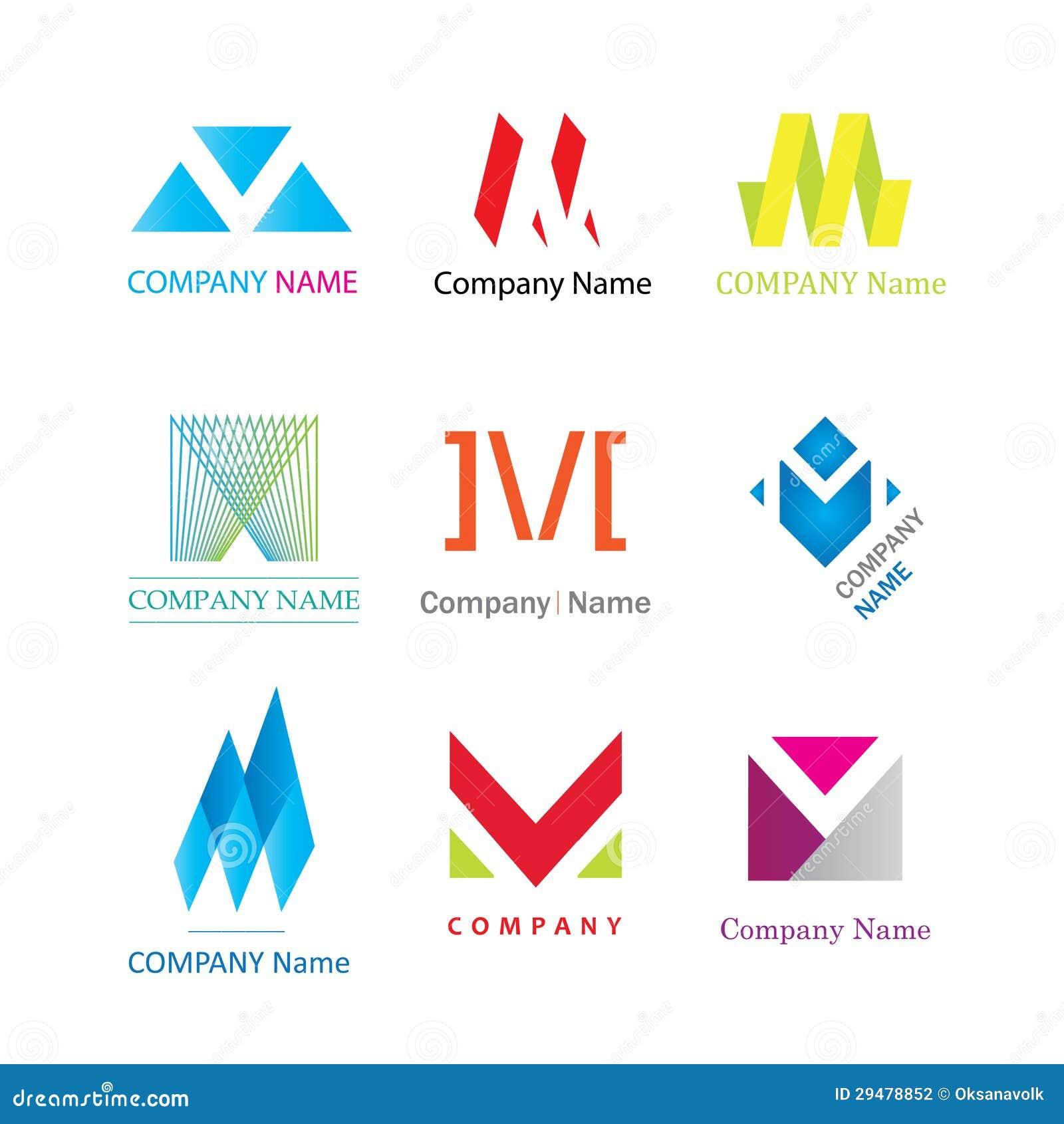 Tekens van het logotypebedrijf van de brief M de moderne
