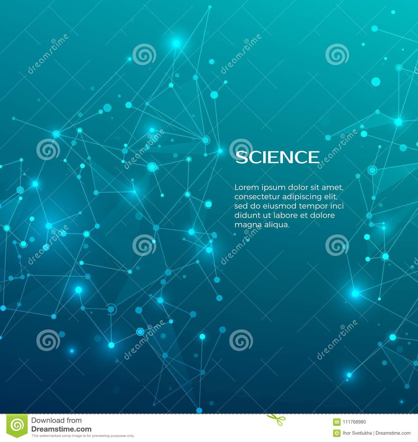 Teknologi- och vetenskapsbakgrund Abstrakt rengöringsduk och knutpunkter optometriker för läkarundersökning för bakgrundsdiagramö