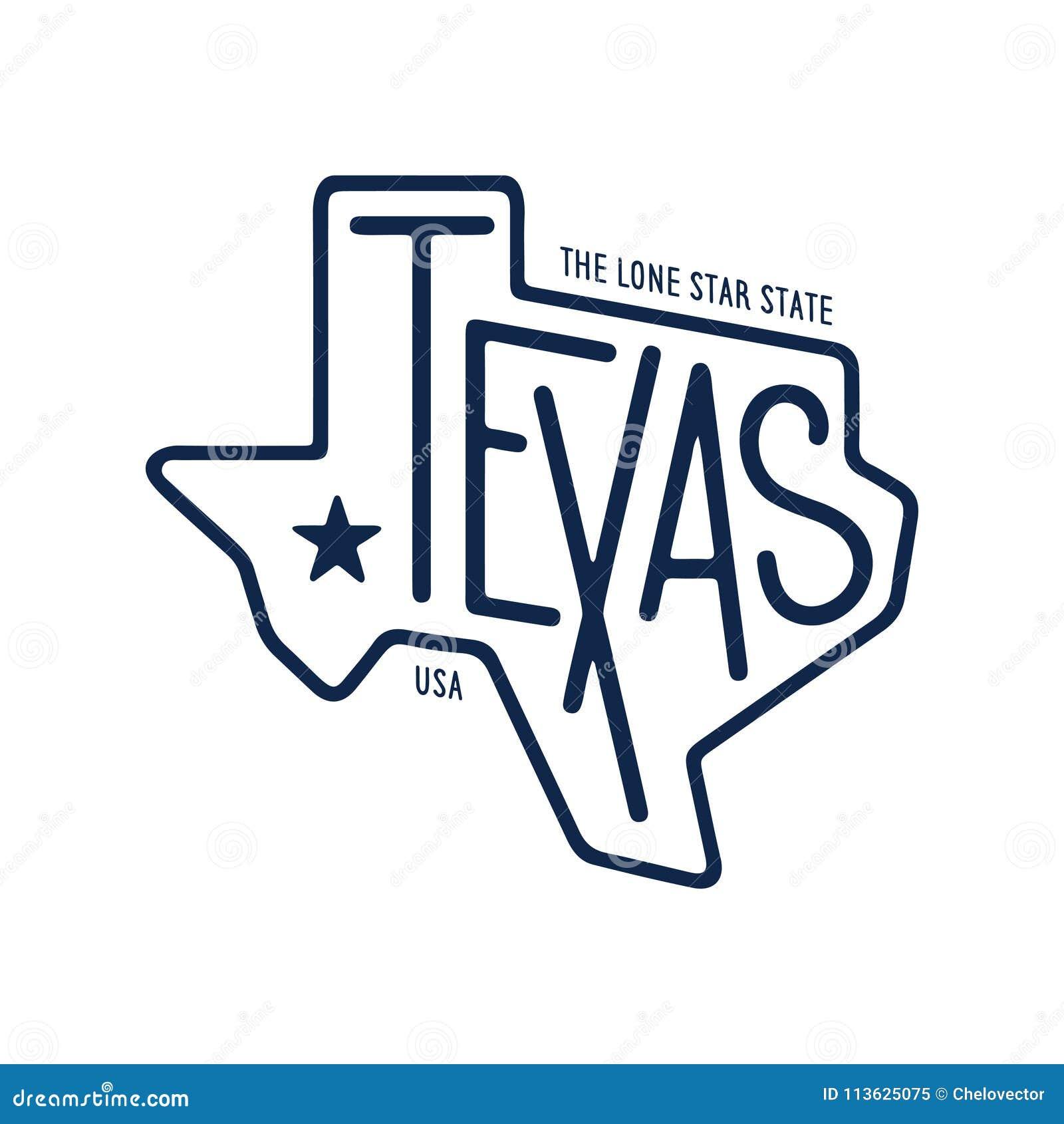 Teksas odnosić sie koszulka projekt samotny gwiazdowy stan Rocznika wektoru ilustracja