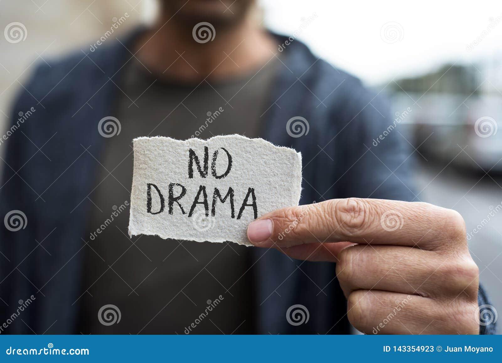 Tekst geen drama in een stuk van document
