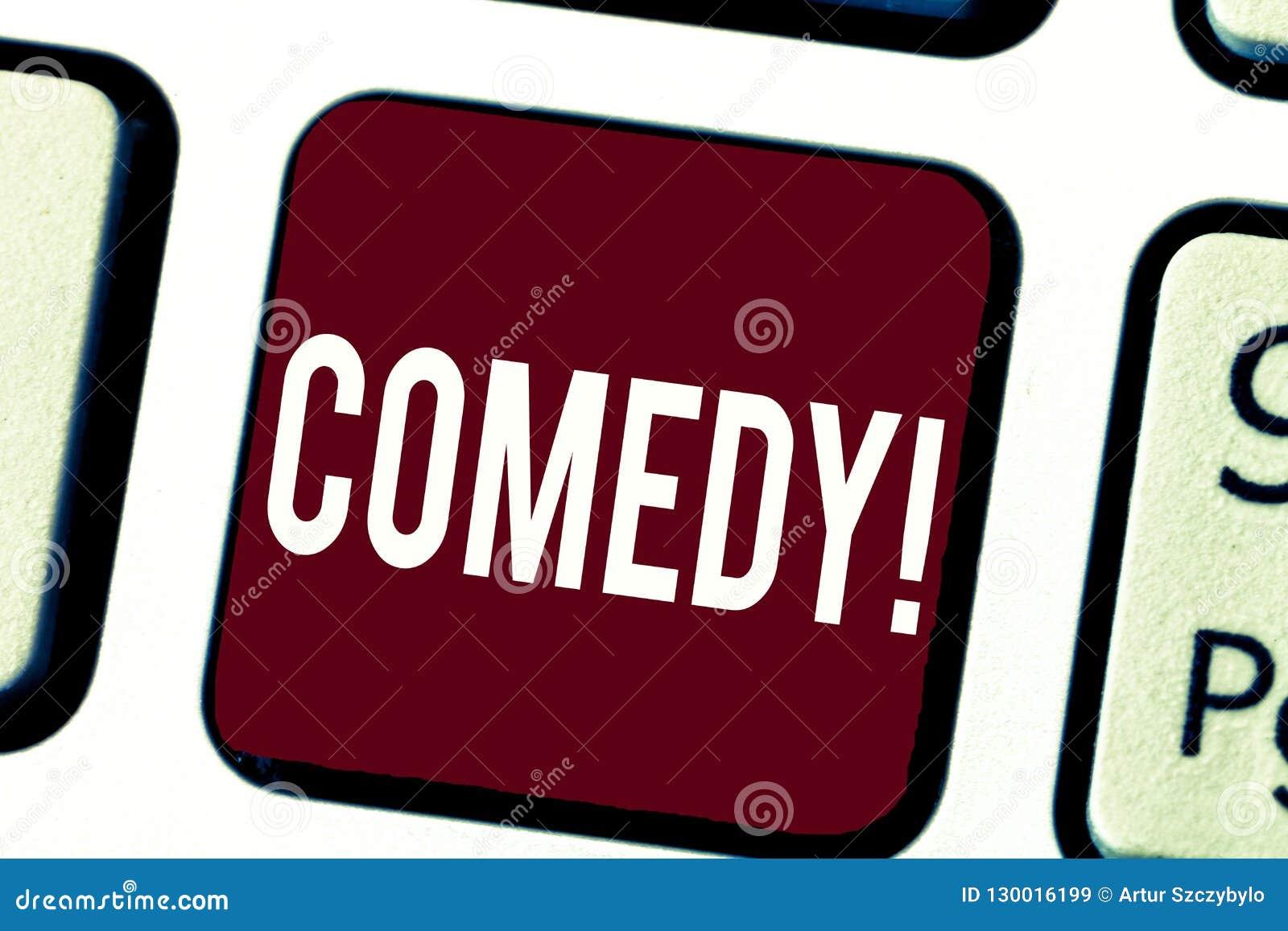 Tekst szyldowa pokazuje komedia Konceptualnej fotografii Fachowa rozrywka Żartuje nakreślenia Robi widowni śmiać się humor