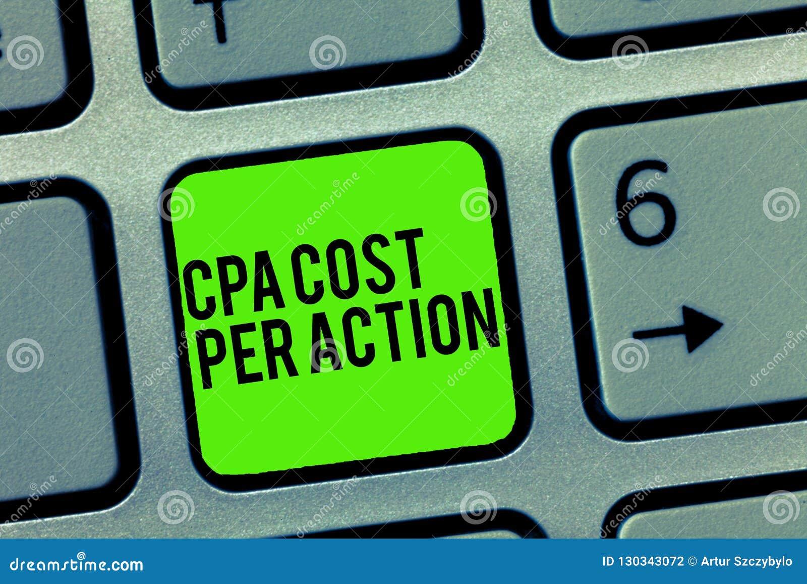 Tekst szyldowy pokazuje Cpa Kosztujący Na akcję Konceptualna fotografii prowizja płacił gdy użytkownik Klika dalej filii połączen
