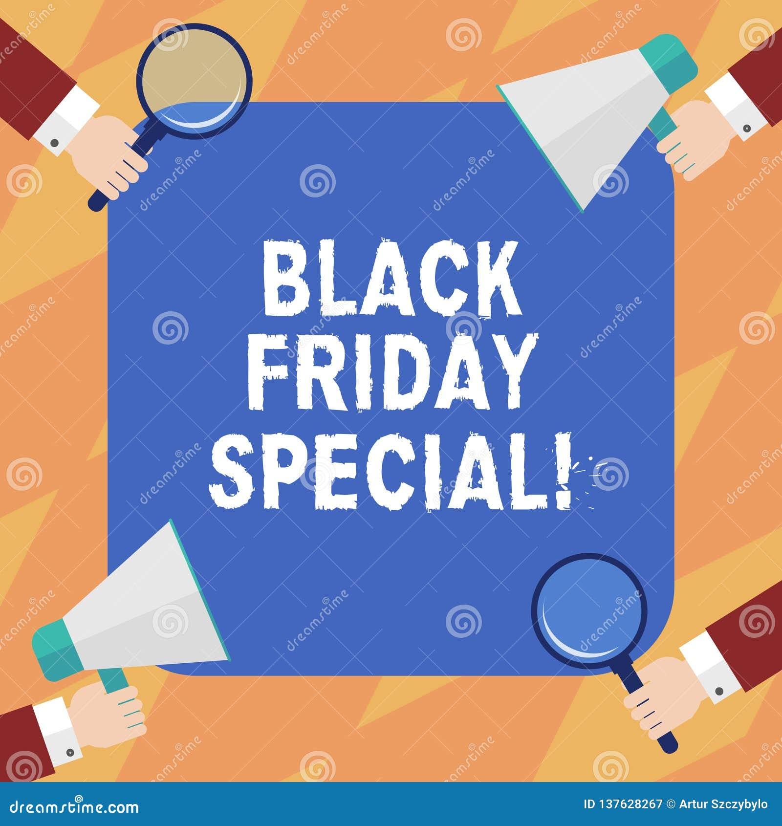 Teksta Black Friday szyldowy pokazuje dodatek specjalny Konceptualna fotografia dzień po dziękczynienie sprzedaży zakupy Szaloneg