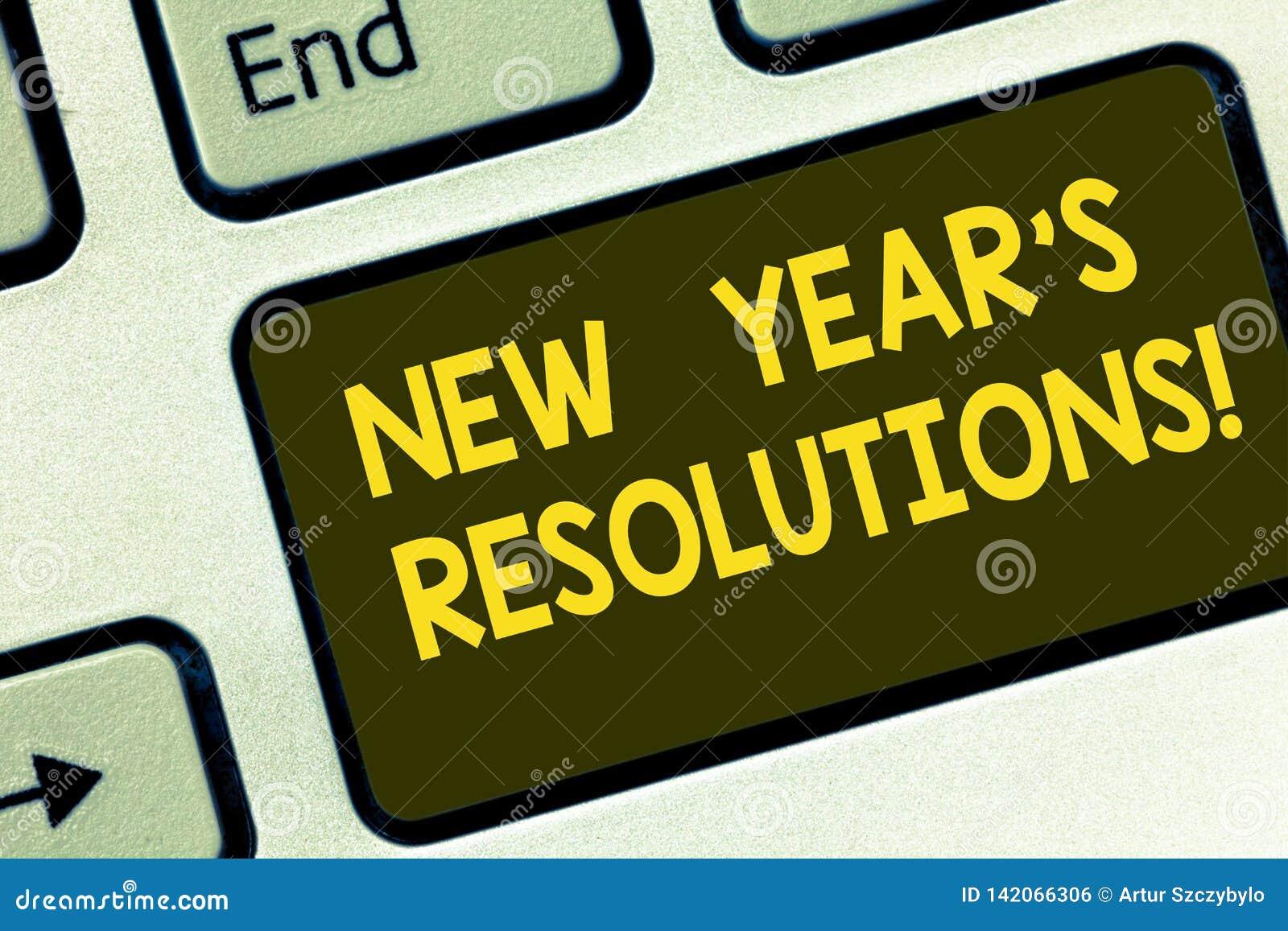Teksta nowego roku S szyldowi pokazuje postanowienia Konceptualni fotografia celów cele Celują decyzje dla następnych 365 dni Kla