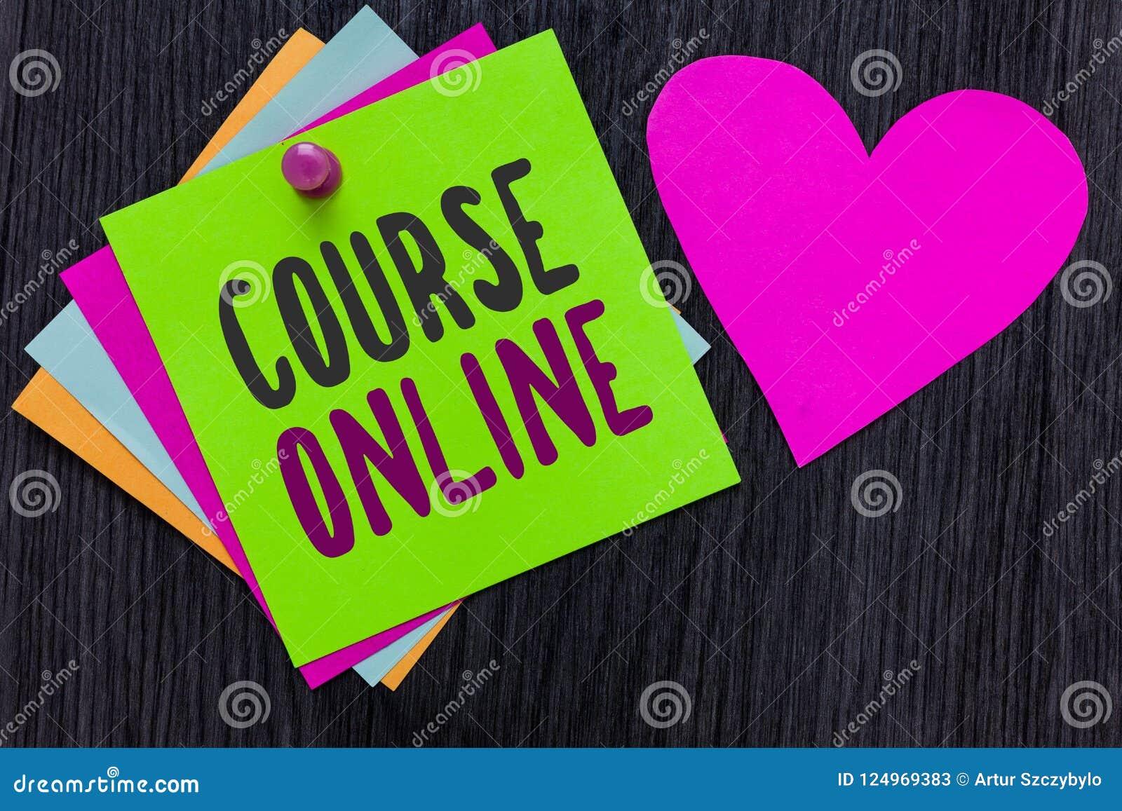 Teksta szyldowy pokazuje Kursowy Online Konceptualnej fotografii eLearning Elektronicznej edukaci nauki Digital Odległa klasa Tap