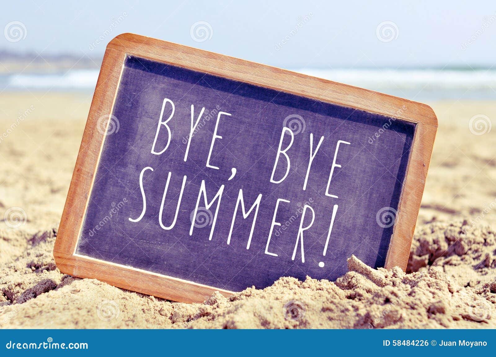 Teksta walkower, walkoweru lato w chalkboard na plaży