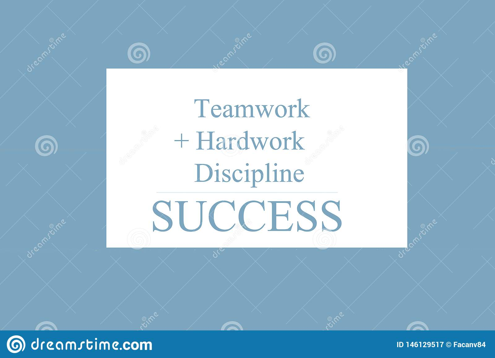 Teksta znak pokazuje prac? zespo?ow?, Hardwork, dyscyplin?, sukces ?+ =