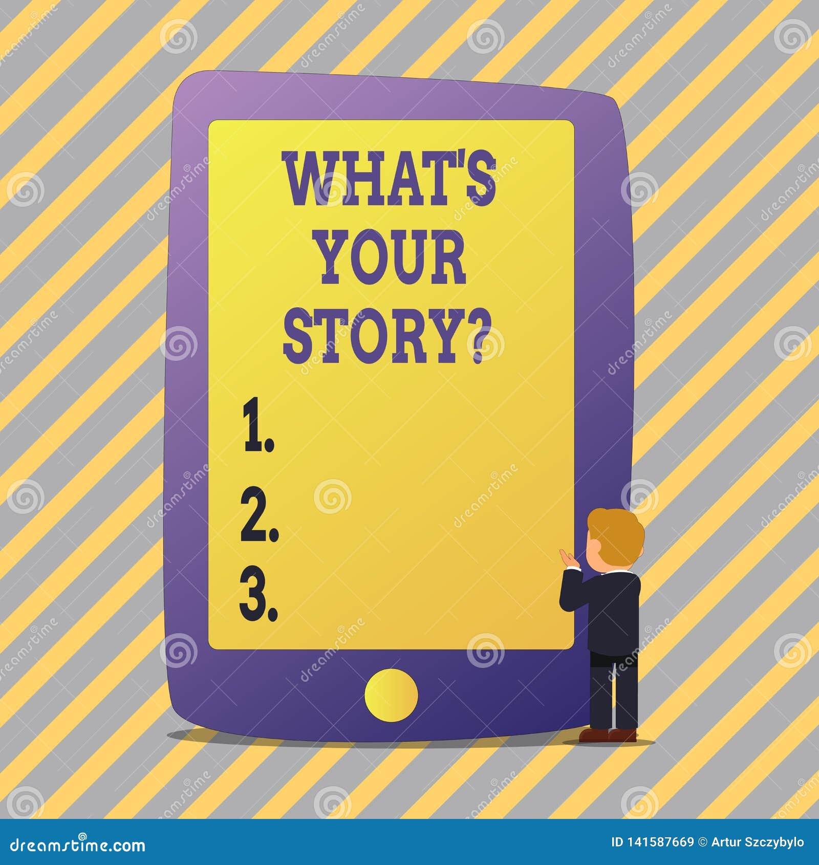 Teksta znaka seans Jaki S Twój Storyquestion Konceptualna fotografia Łączy Komunikuje łączliwość związek