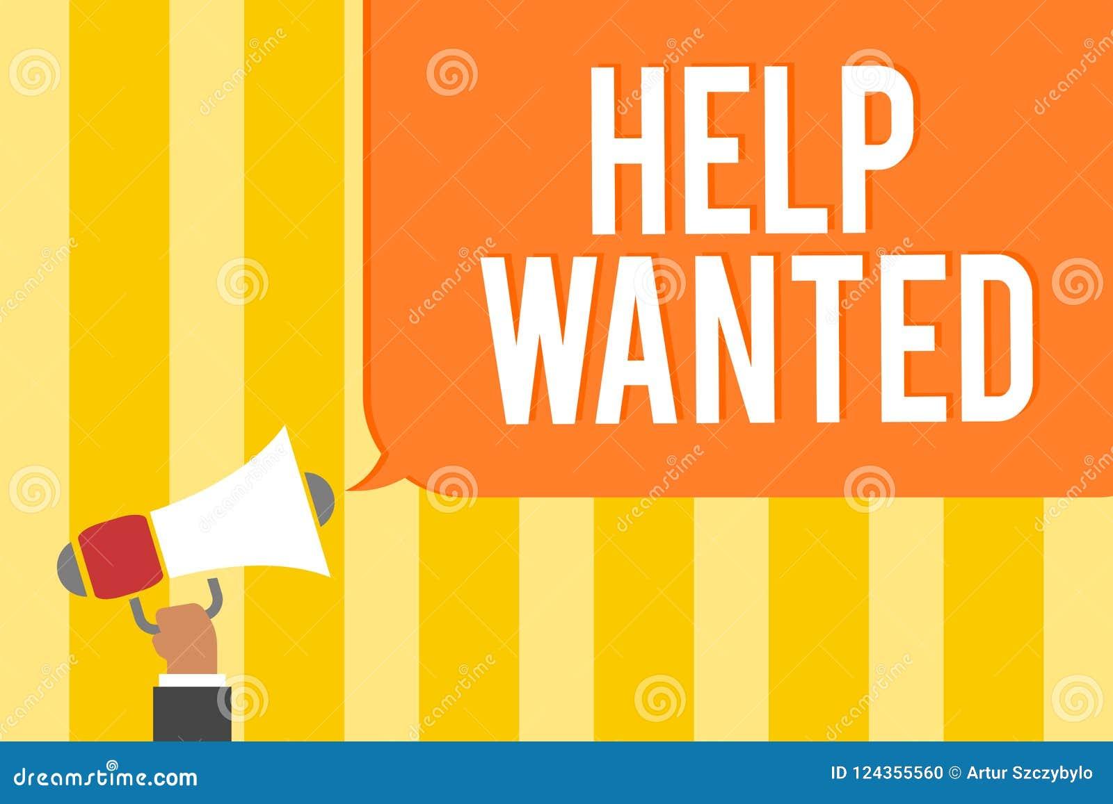 Teksta znaka seansu pomoc Chcieć Konceptualna fotografii reklama umieszczająca w gazecie pracodawca aport pracownikami Obsługuje