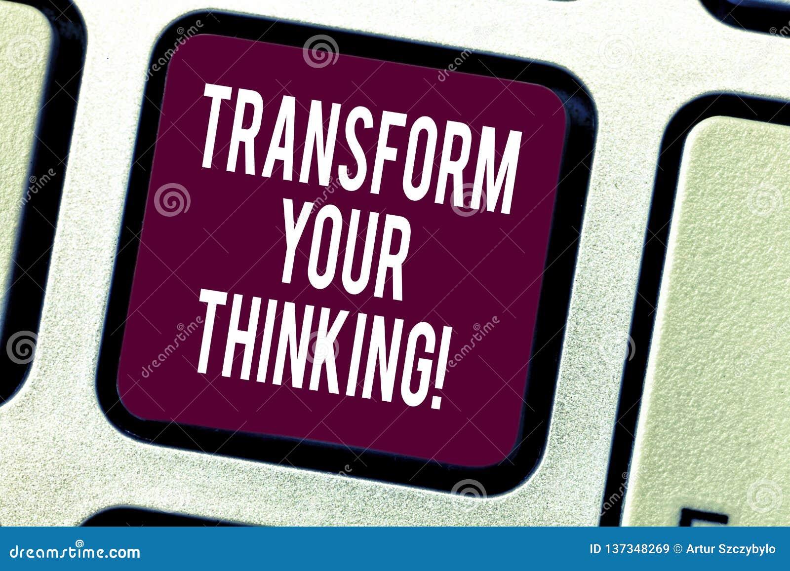 Teksta znaka seansu transformata Twój główkowanie Konceptualna fotografii zmiana twój myśli w kierunku rzecz Klawiaturowego klucz