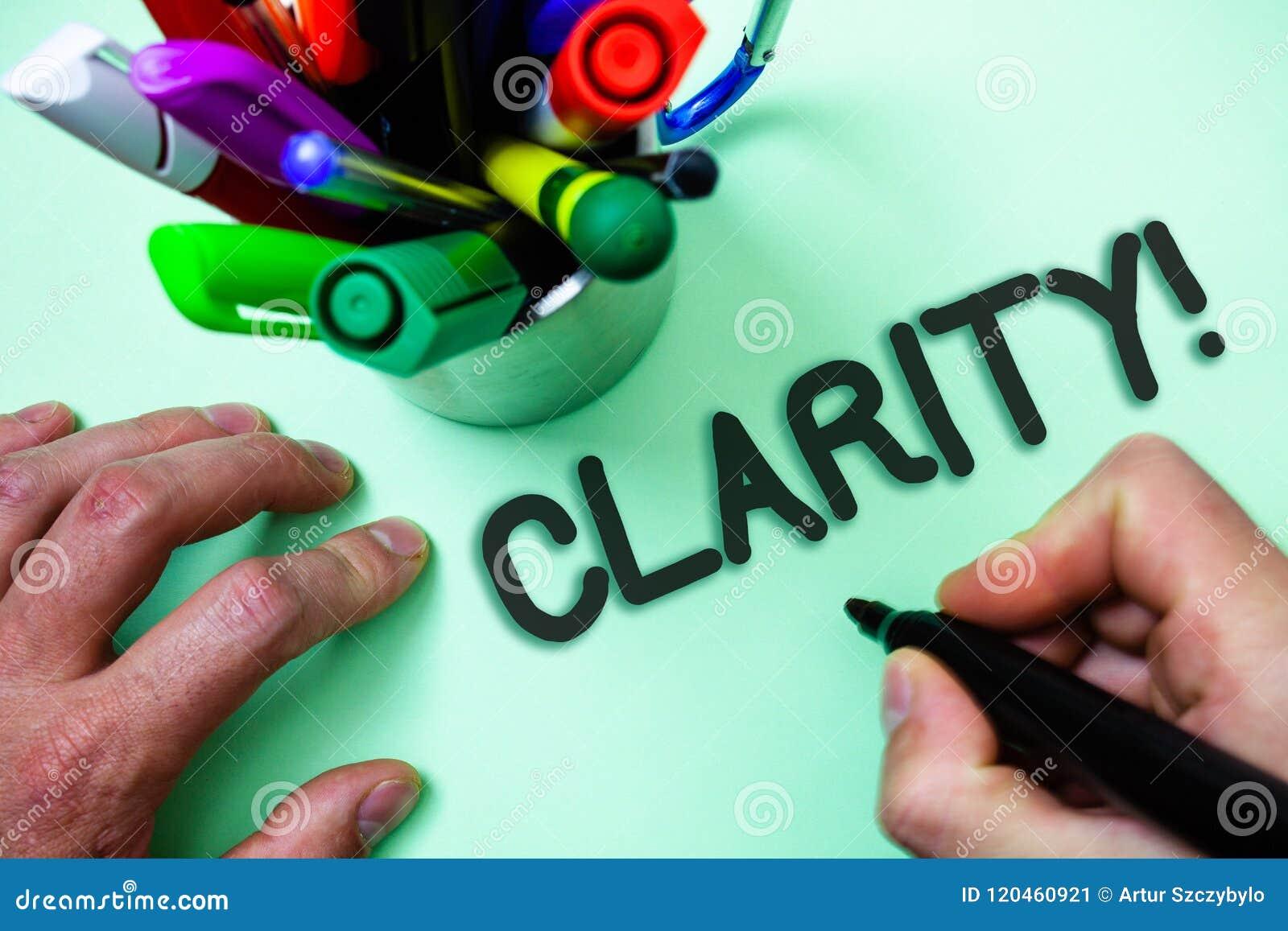 Tekstteken die Duidelijkheid tonen Conceptuele van de de Precisiezuiverheid van de fotozekerheid van de de Begrijpelijkheidstrans
