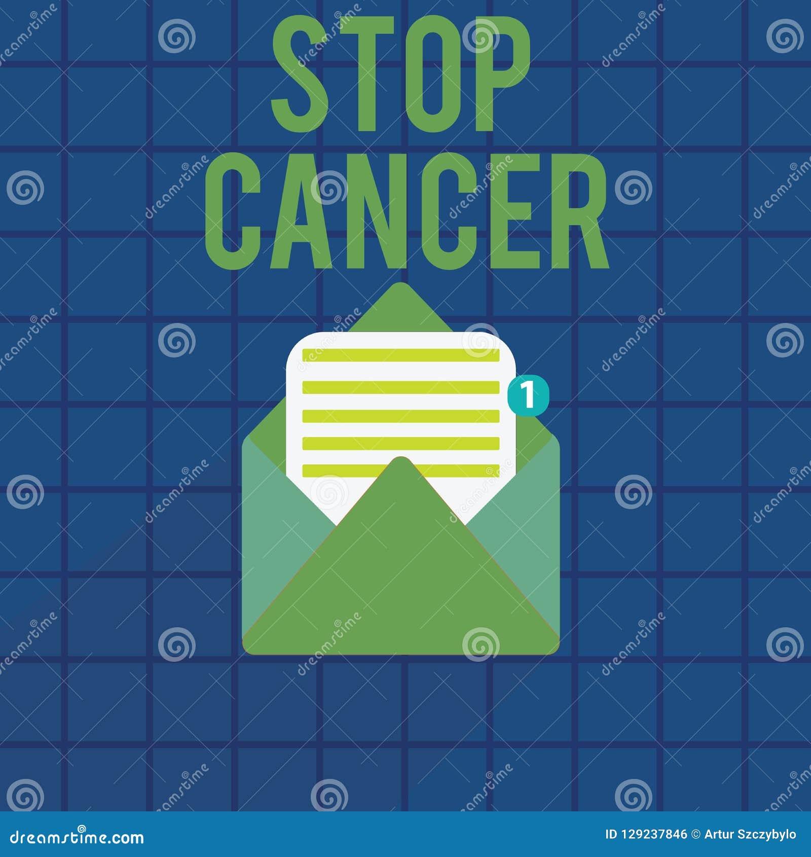 Tekstteken die Eindekanker tonen Conceptuele fotopraktijk van het treffen van actieve maatregelen om het tarief van kanker te sni