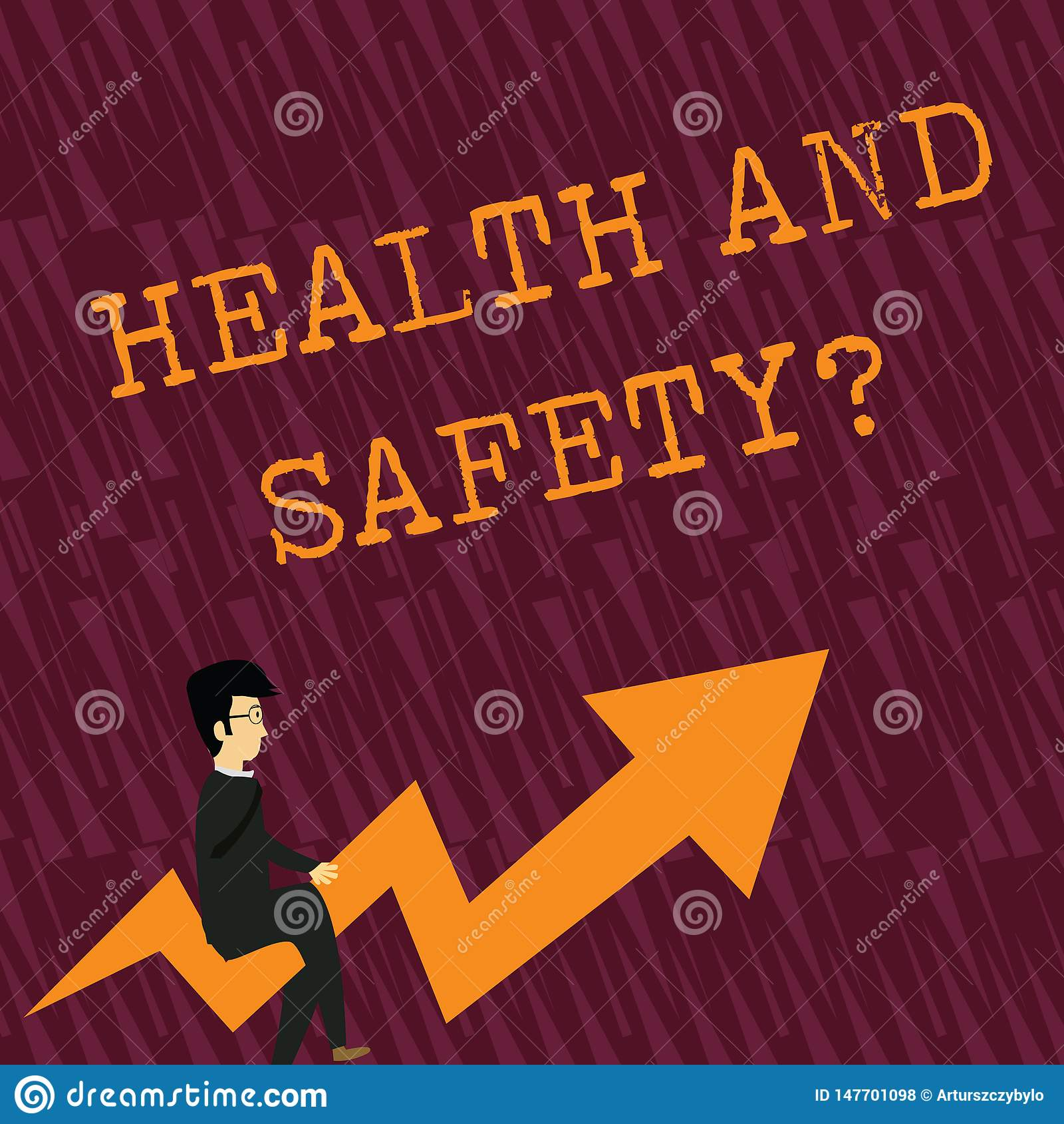 Tekstteken die Gezondheid en Veiligheidsvraag tonen Conceptuele fotoverordeningen en procedures om ongeval of verwonding te verhi