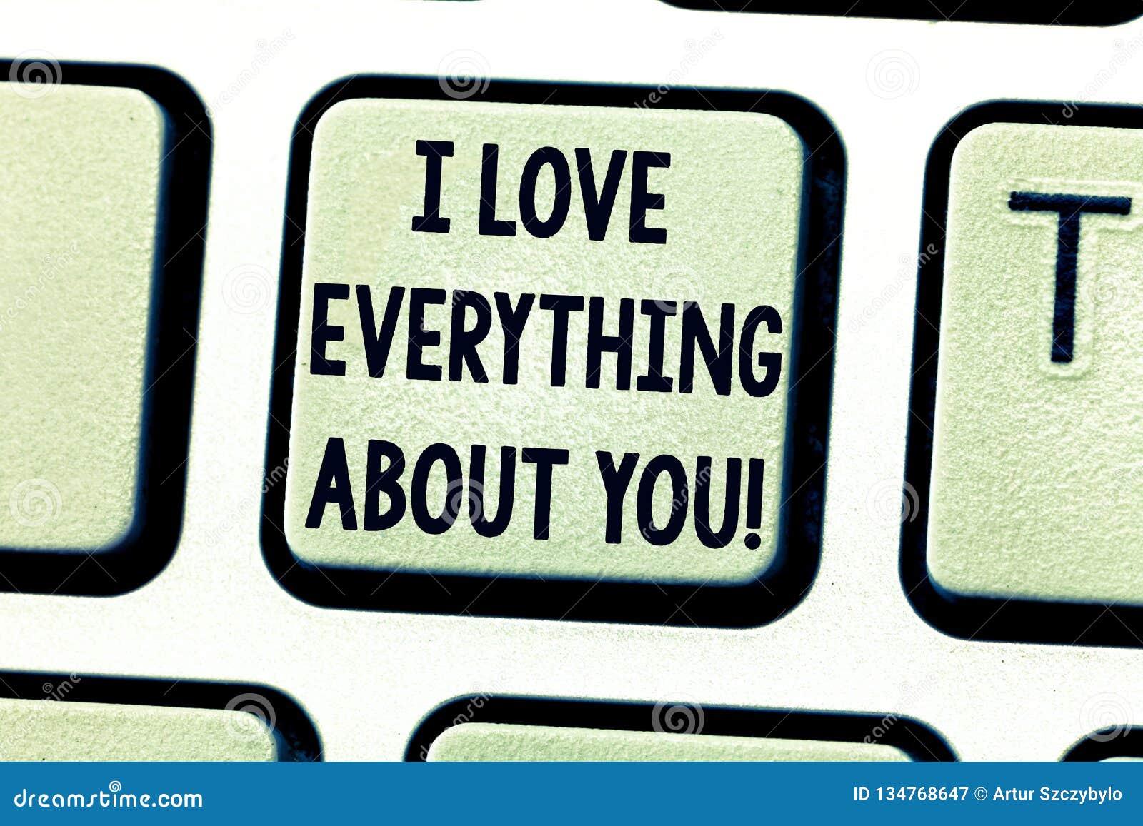 Tekstteken die I-Liefde alles over u tonen Conceptuele foto die roanalysistic gevoel en emotiestoetsenbord uitdrukt