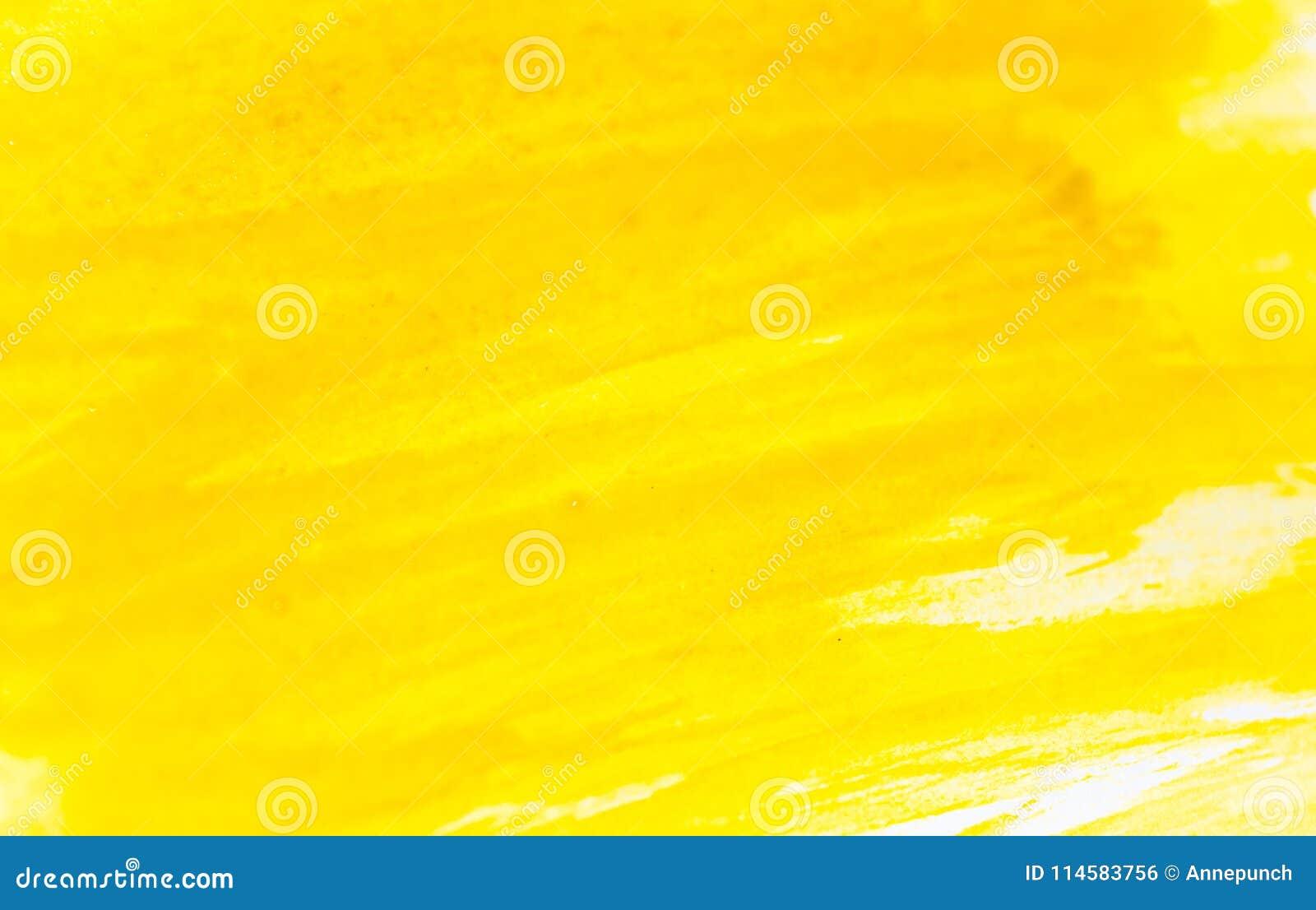 Tekstura akwareli farba Horyzontalny tło z żółtym watercolour