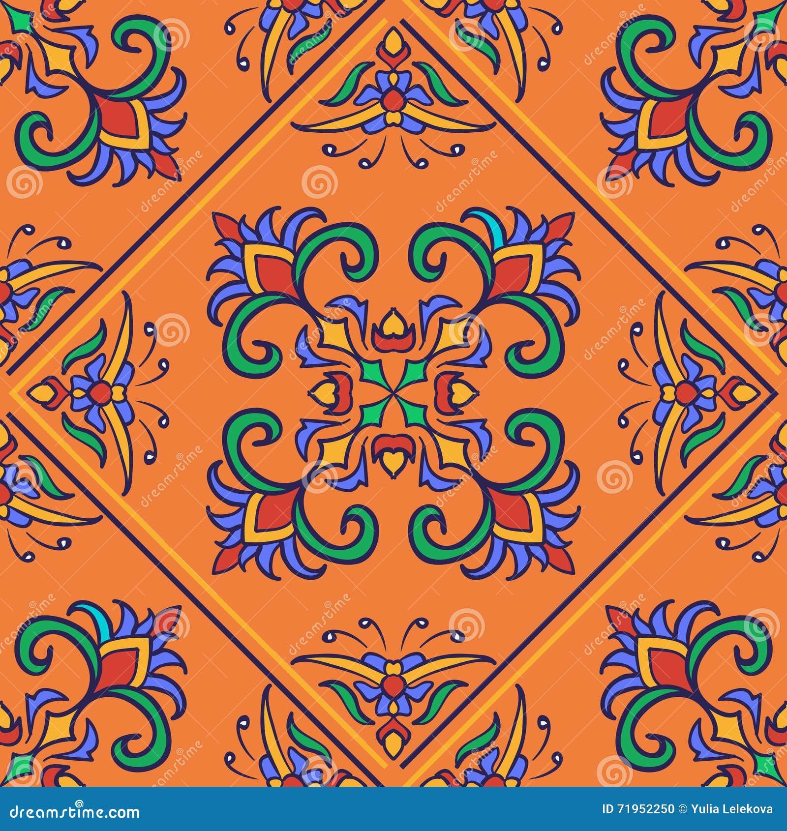 Tekstura bezszwowy wektor Piękny barwiony wzór dla projekta i moda z dekoracyjnymi elementami