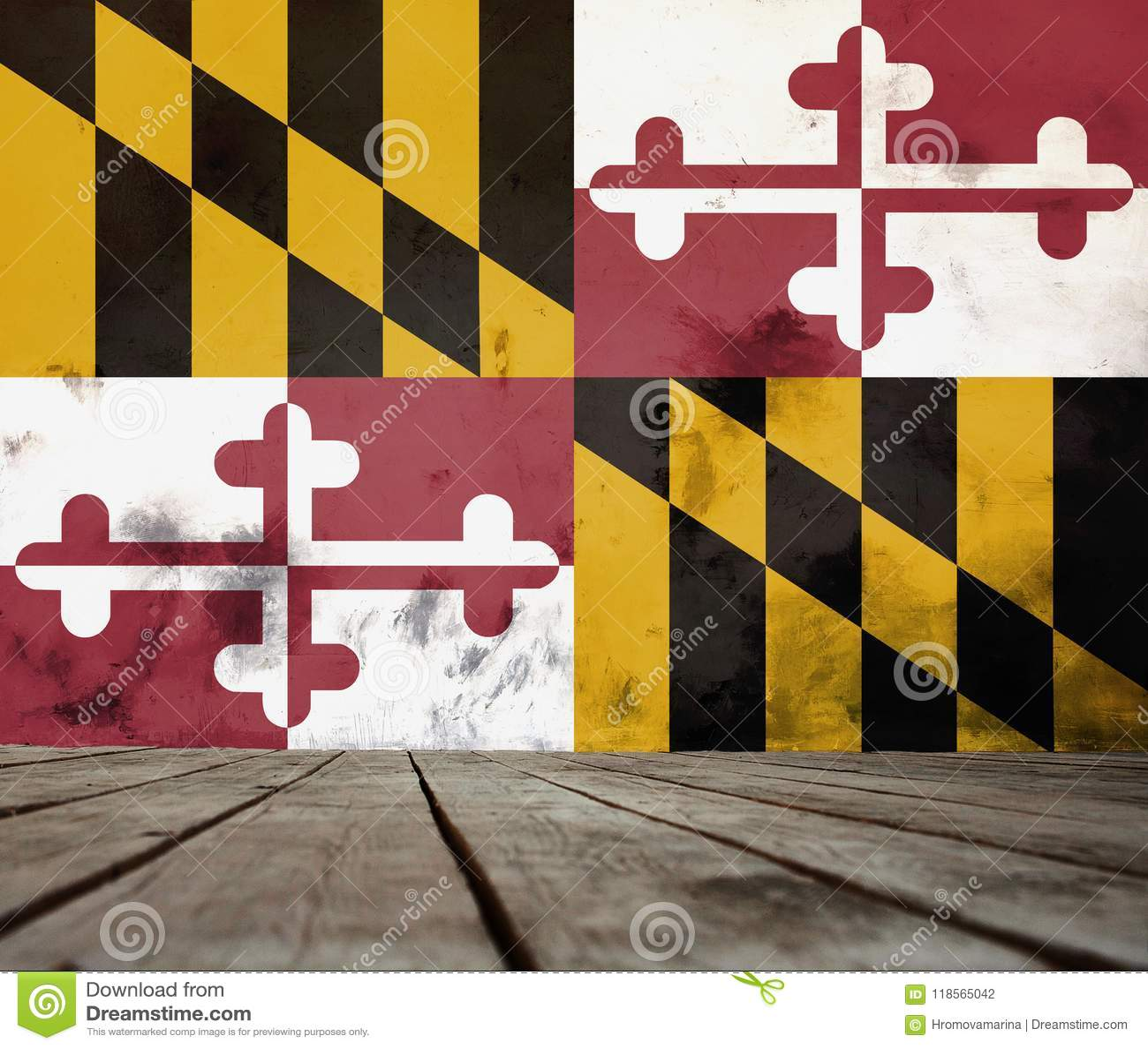 Tekstura Maryland flaga