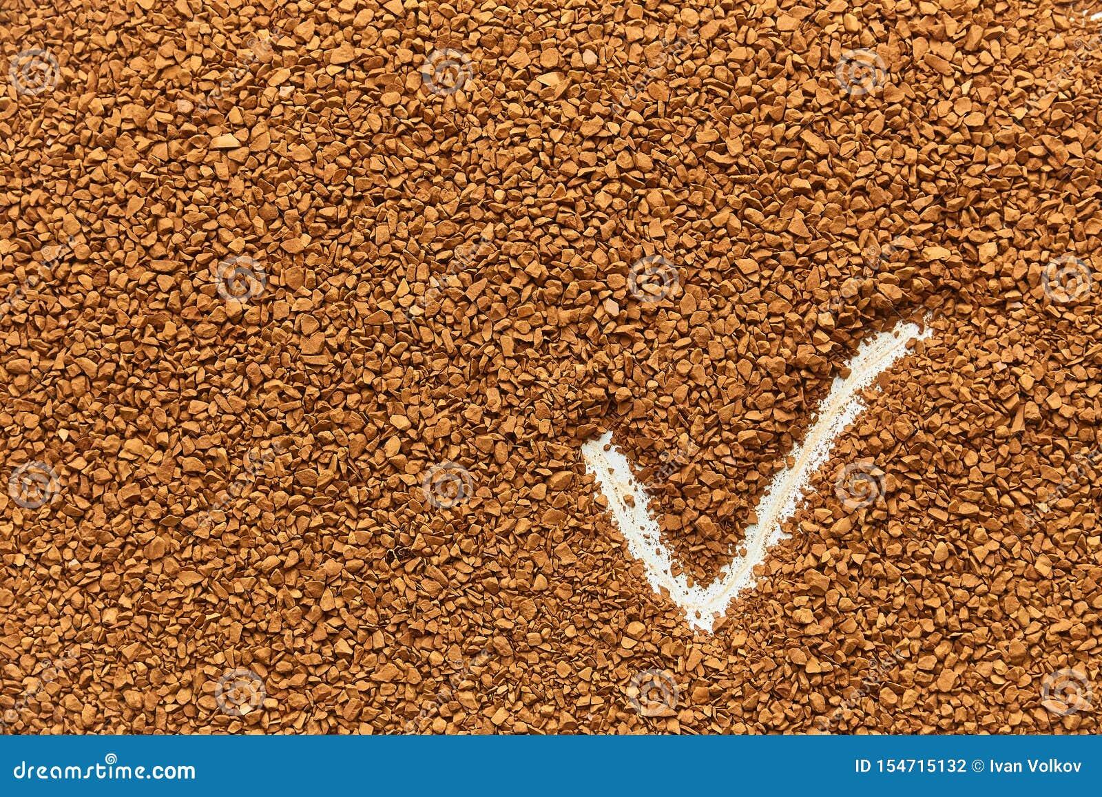 Tekstura natychmiastowa kawa świetne granule, dobry rezultat