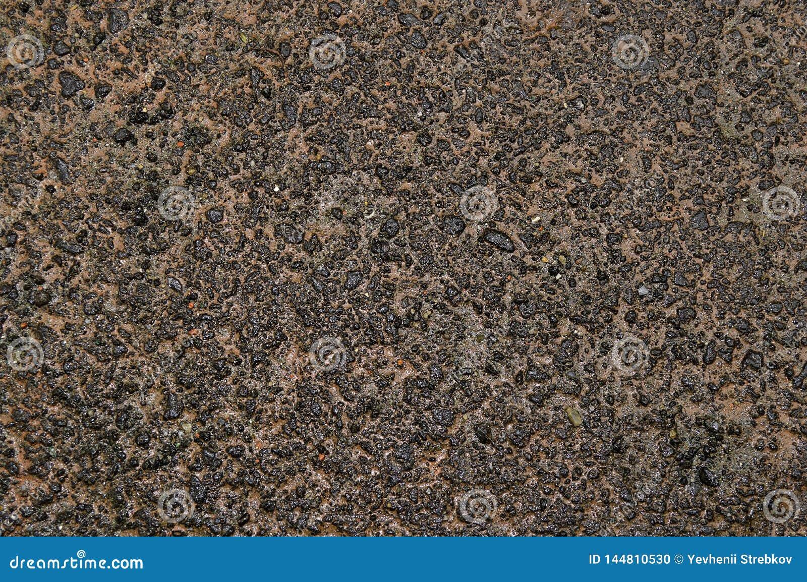 Tekstura prostacki moczy asfalt