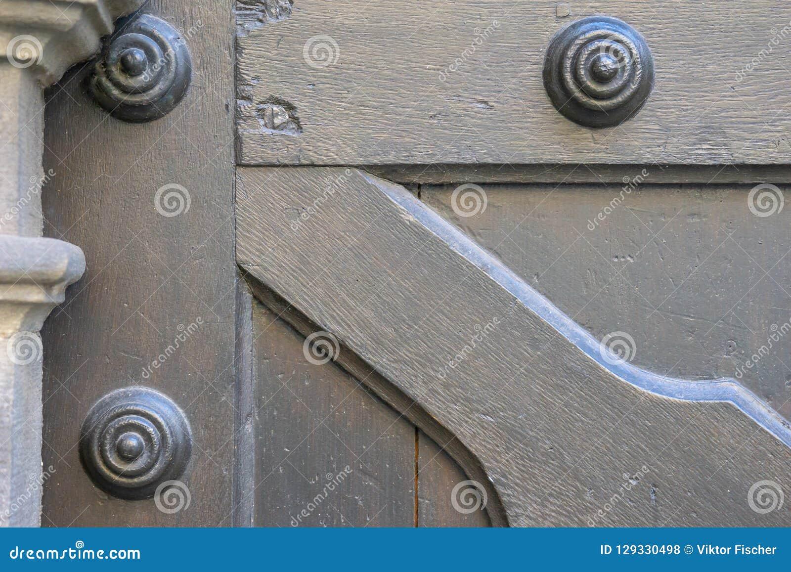 Tekstura, Stary drewniany drzwi od średniowiecznej ery