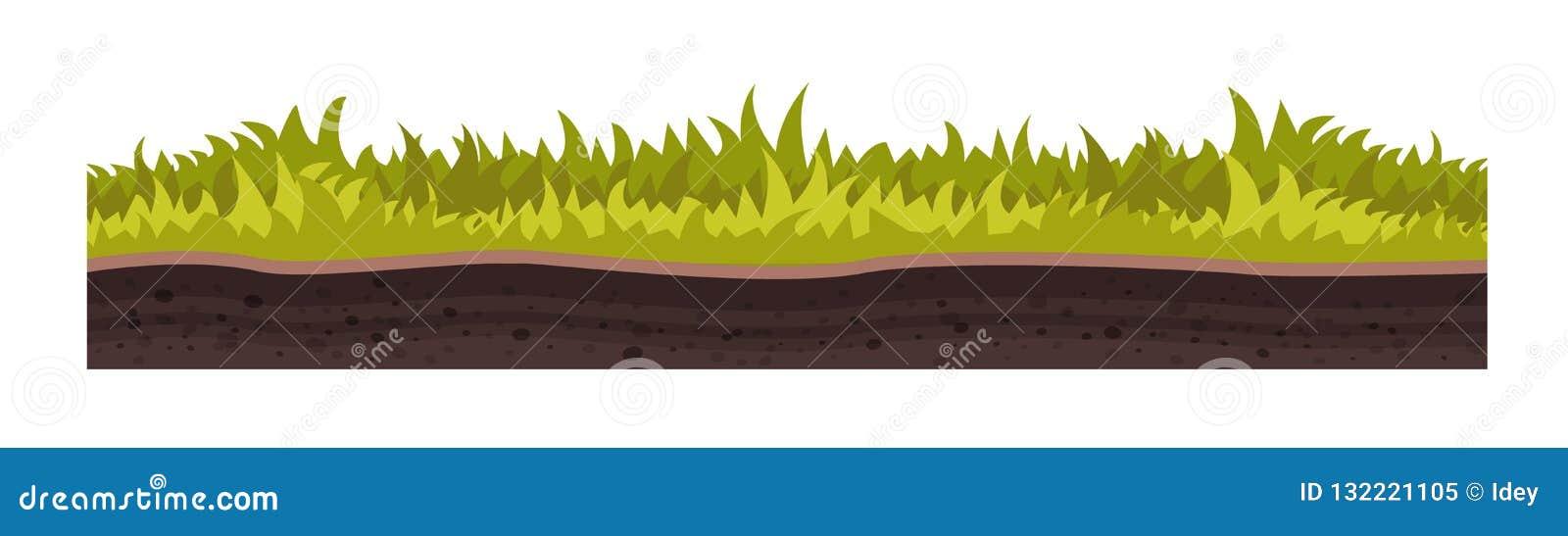 Tekstura ziemia, z trawą, gazon, roślinność