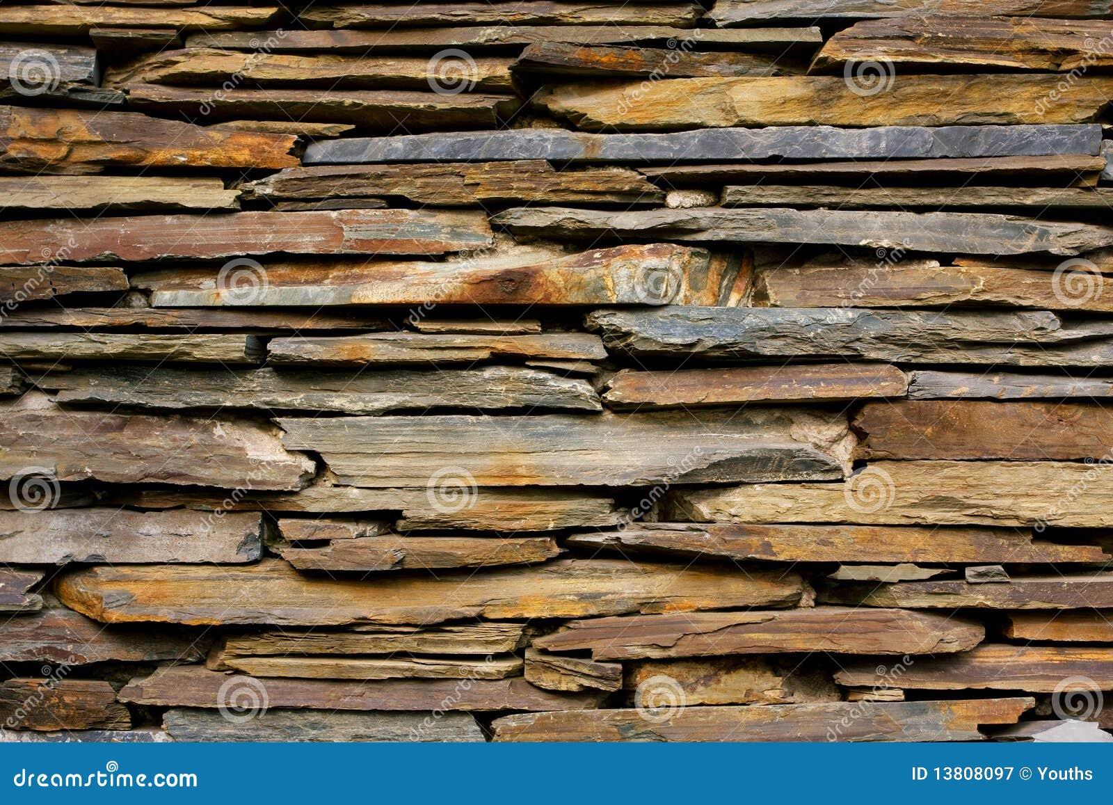 Tekstury łupkowa kamienna ściana