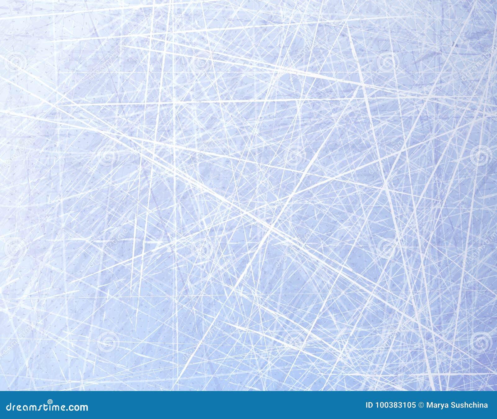 Tekstury błękita lód Lodowy lodowisko tło płatków śniegu biały niebieska zima Zasięrzutny widok Wektorowy ilustracyjny natury tło