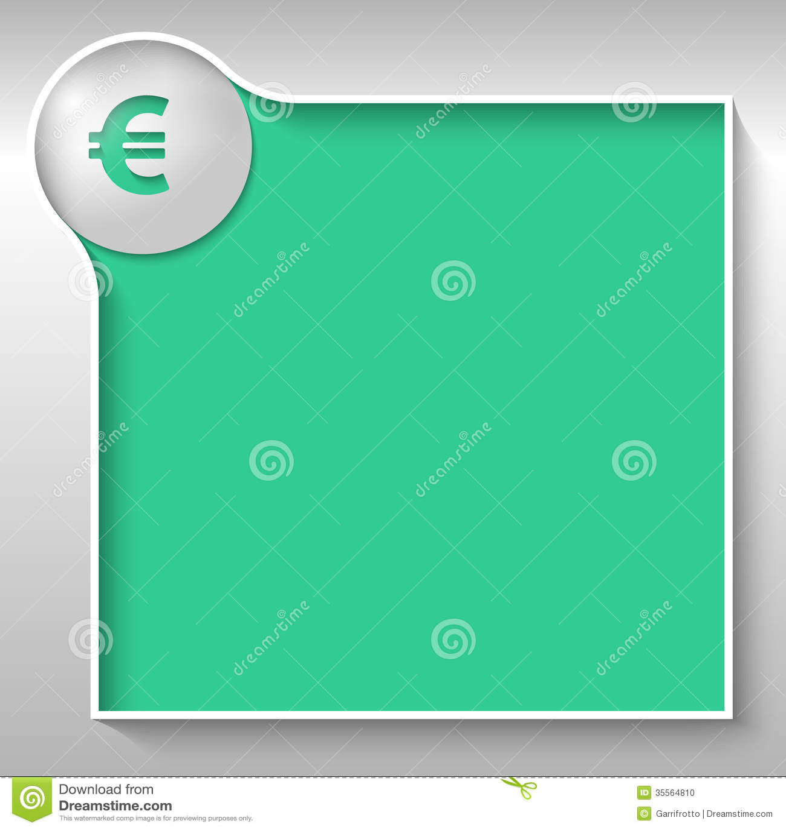 Tekstvakje Voor Om Het Even Welke Tekst Met Euro Teken