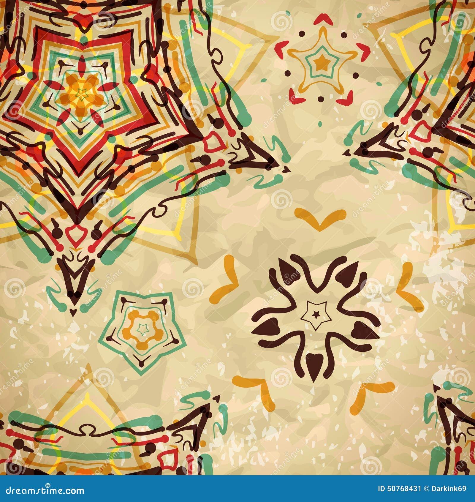Tekstylny bezszwowy wzór barwioni diamenty i wzory