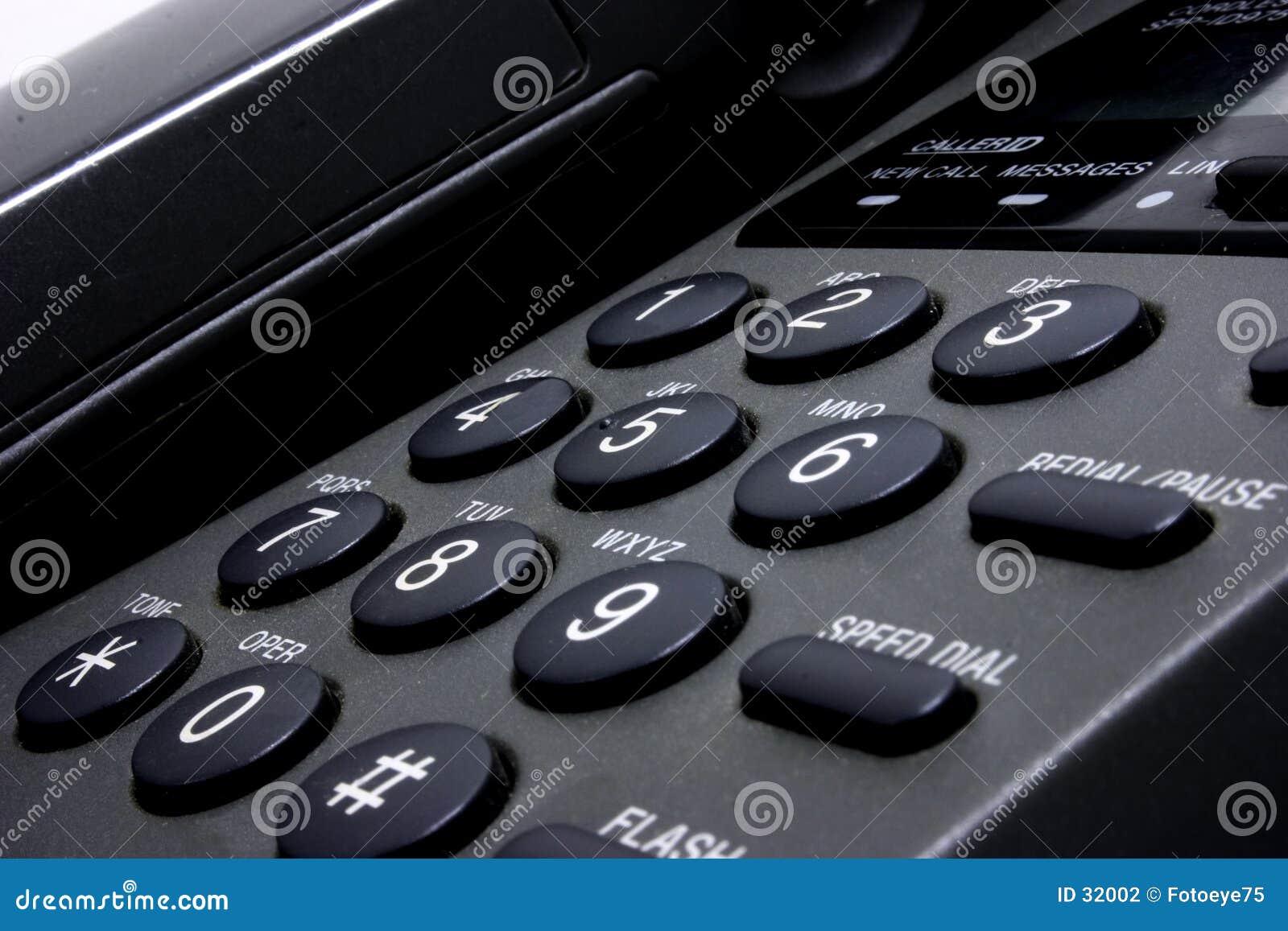 Download Teléfono foto de archivo. Imagen de botón, botones, números - 32002