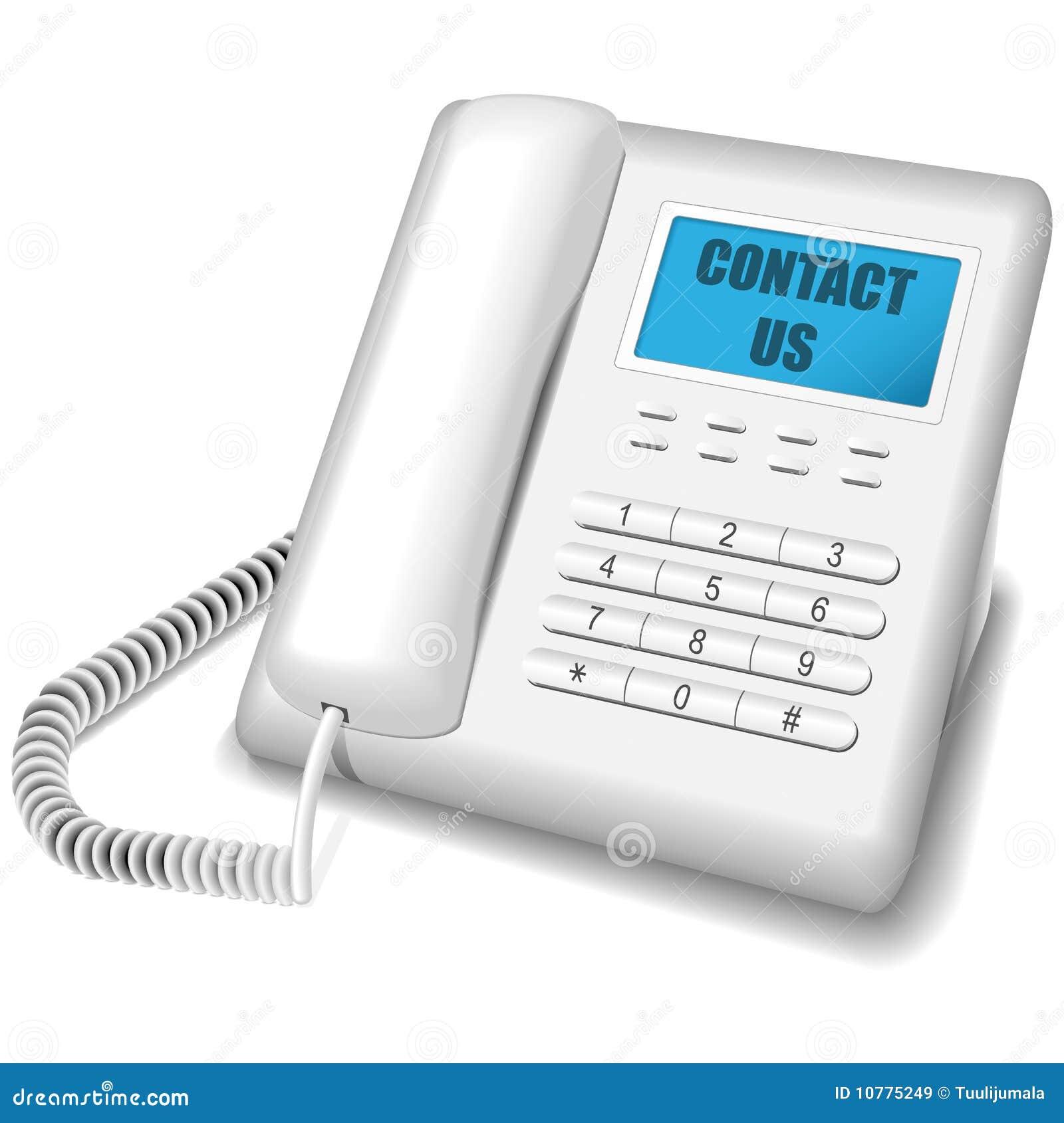Teléfono blanco moderno.