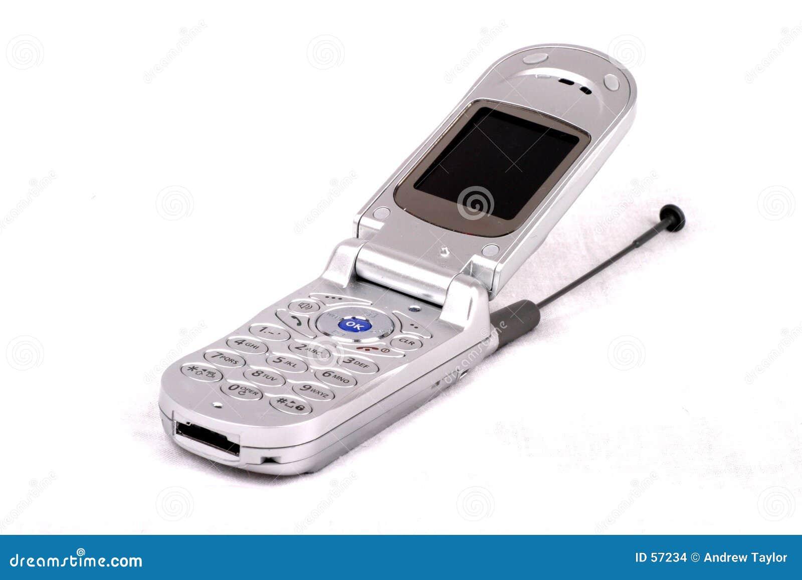 Teléfono celular abierto