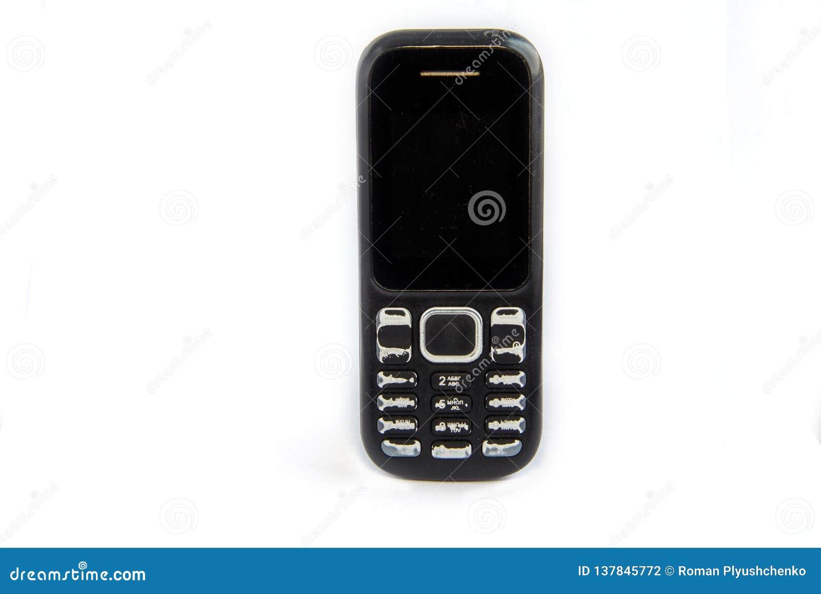 Teléfono celular viejo del botón