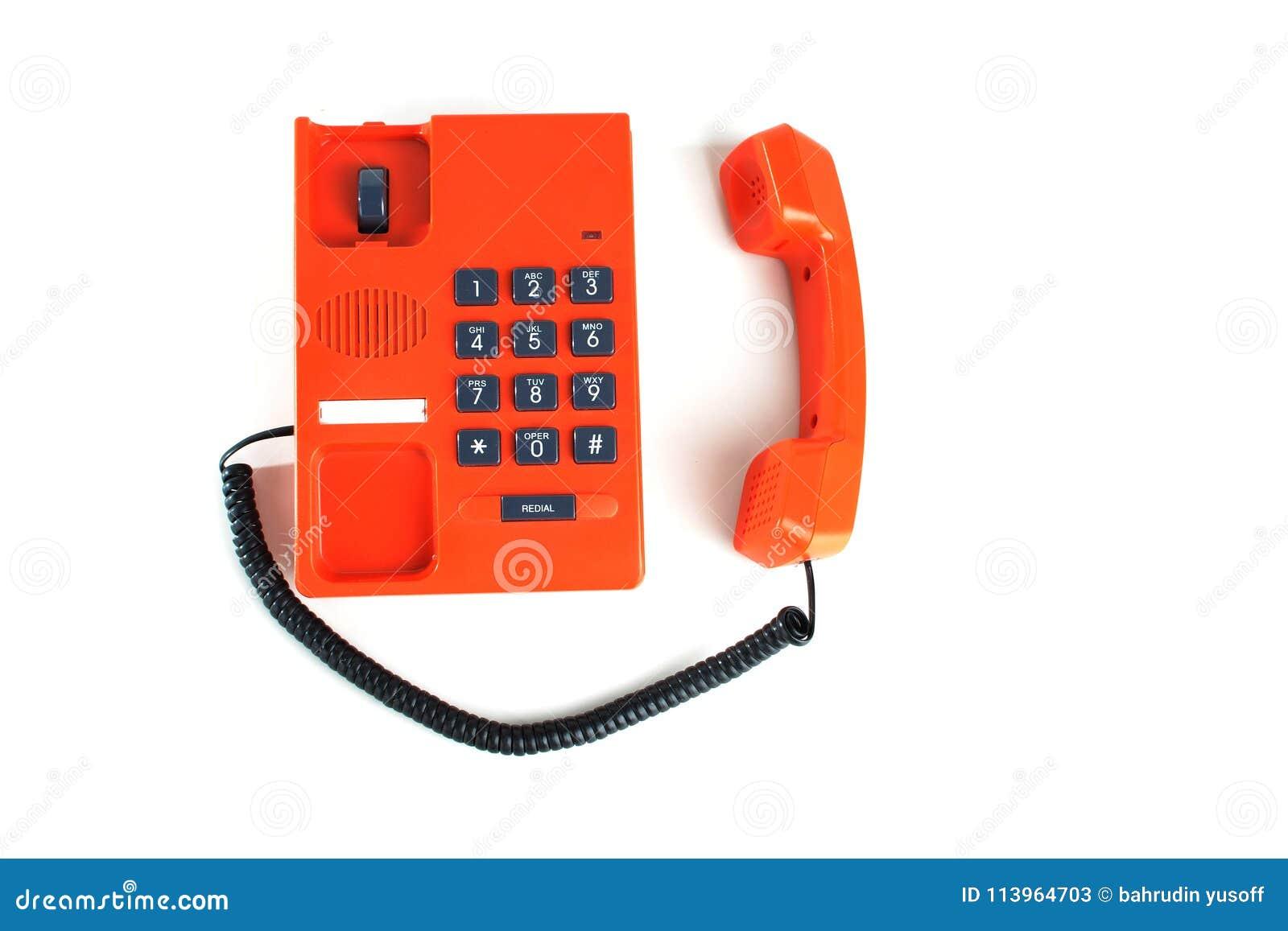 Teléfono de color naranja