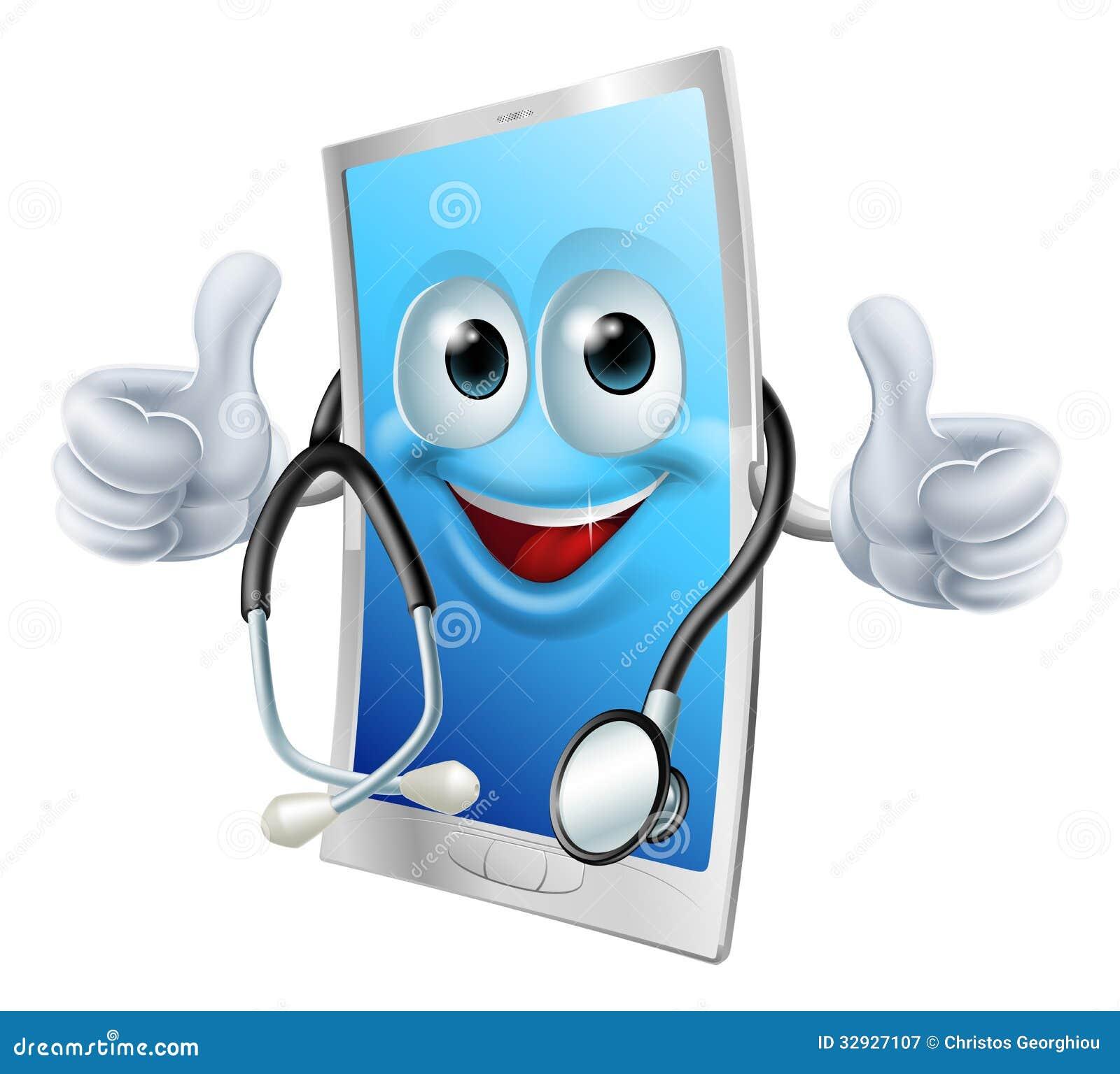 Teléfono del doctor con el estetoscopio