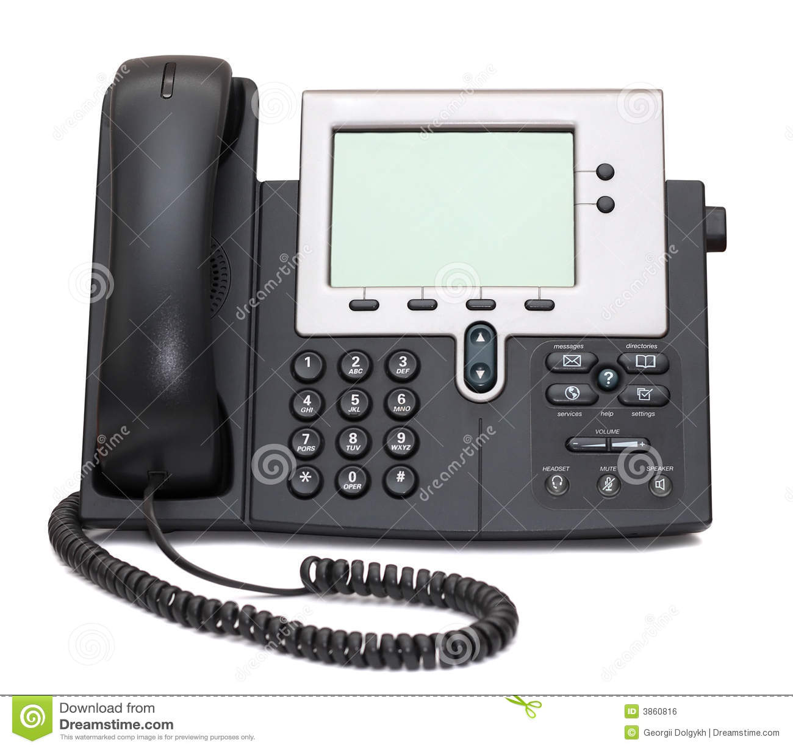 Teléfono del IP aislado en blanco