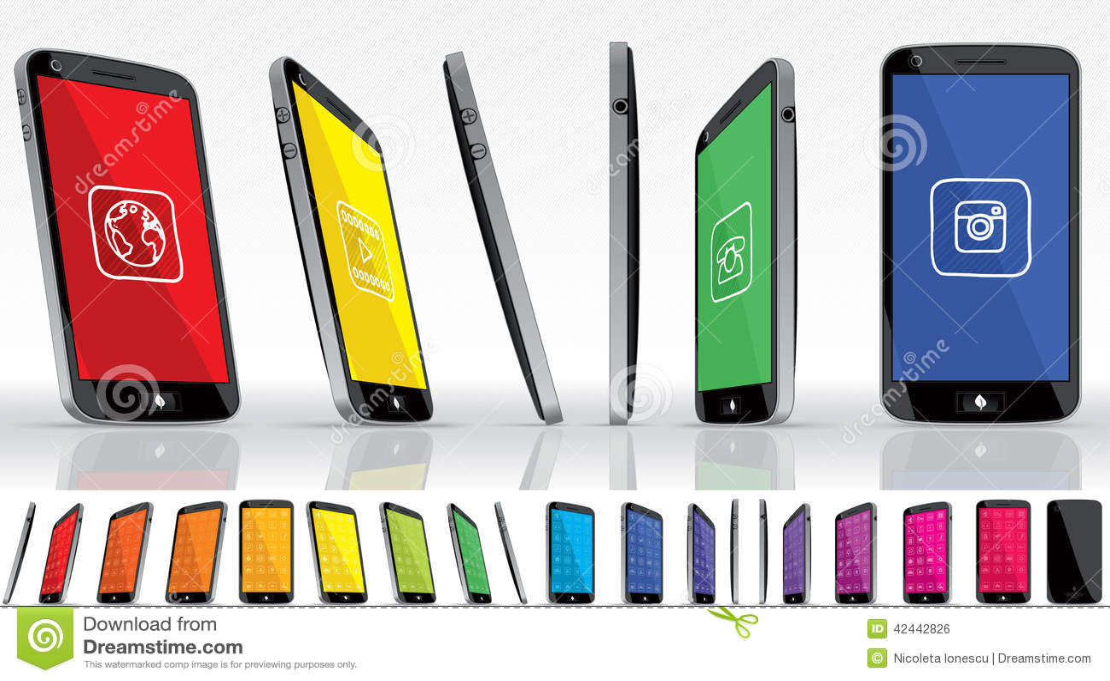 Teléfono elegante negro - visiones múltiples