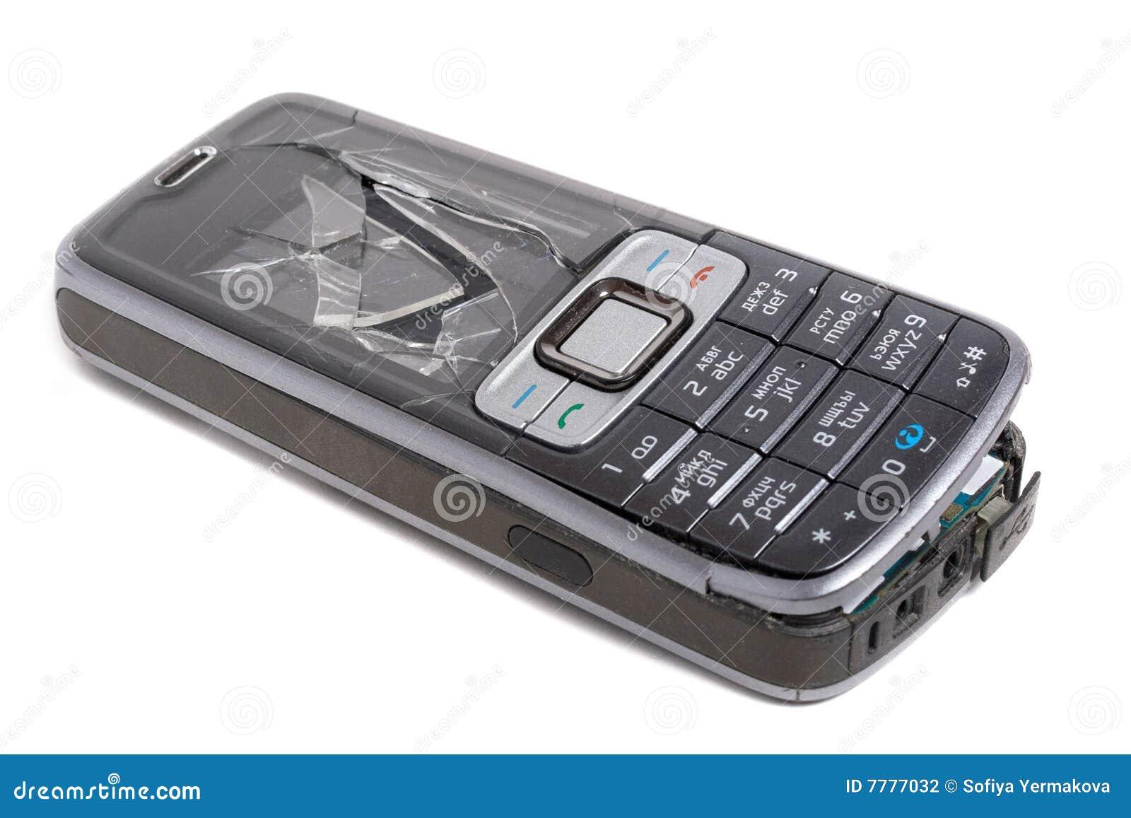 Teléfono móvil causado un crash