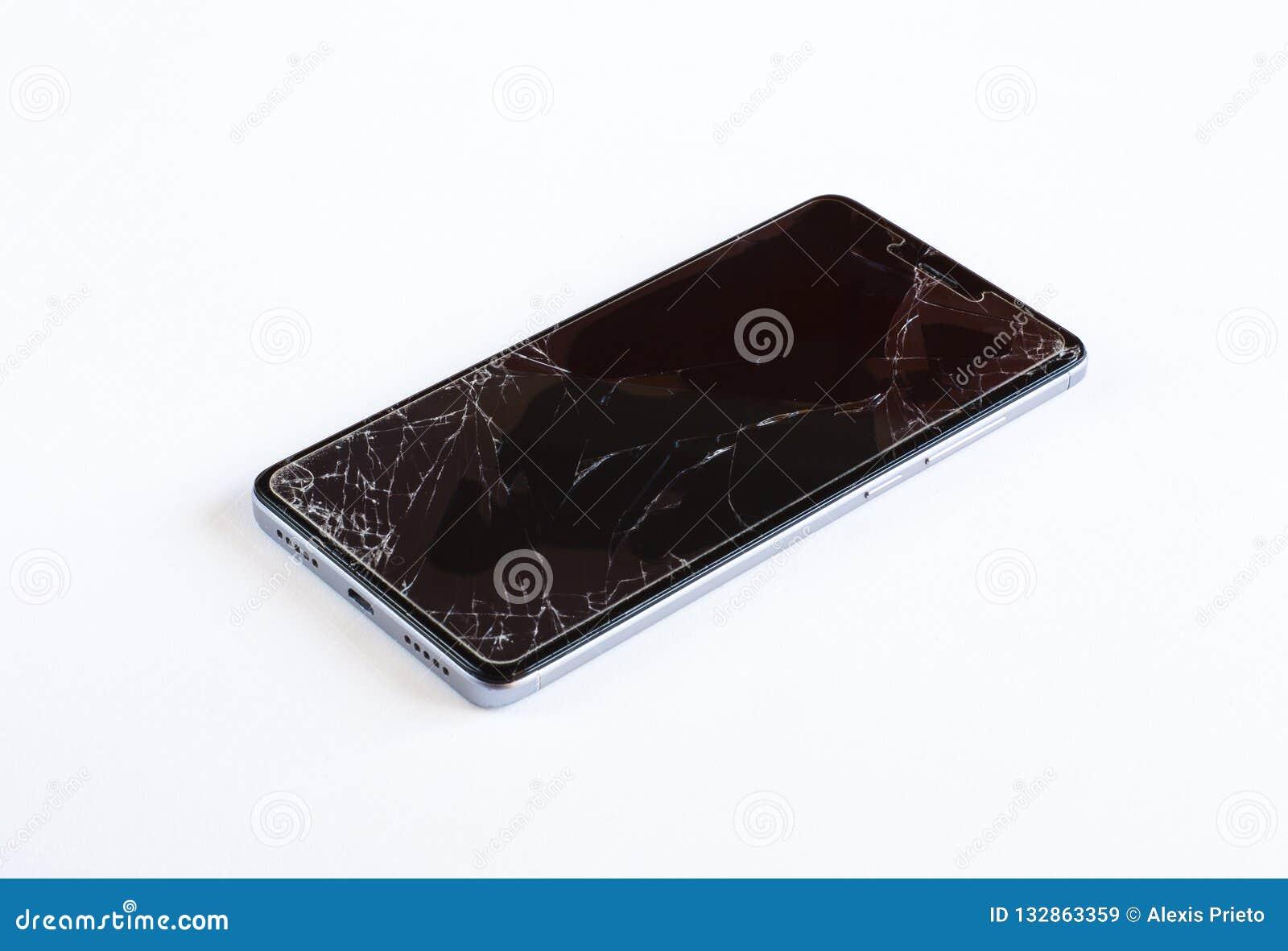 Teléfono móvil quebrado