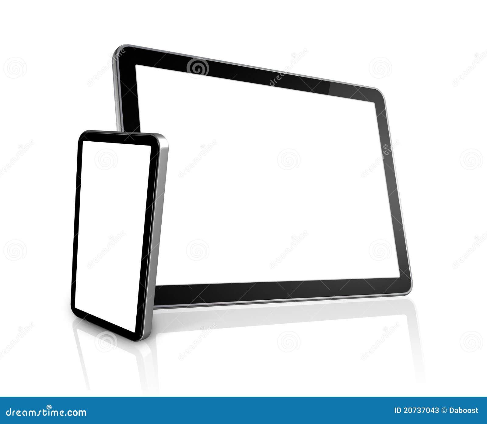 Teléfono móvil y ordenador digital de la PC de la tablilla