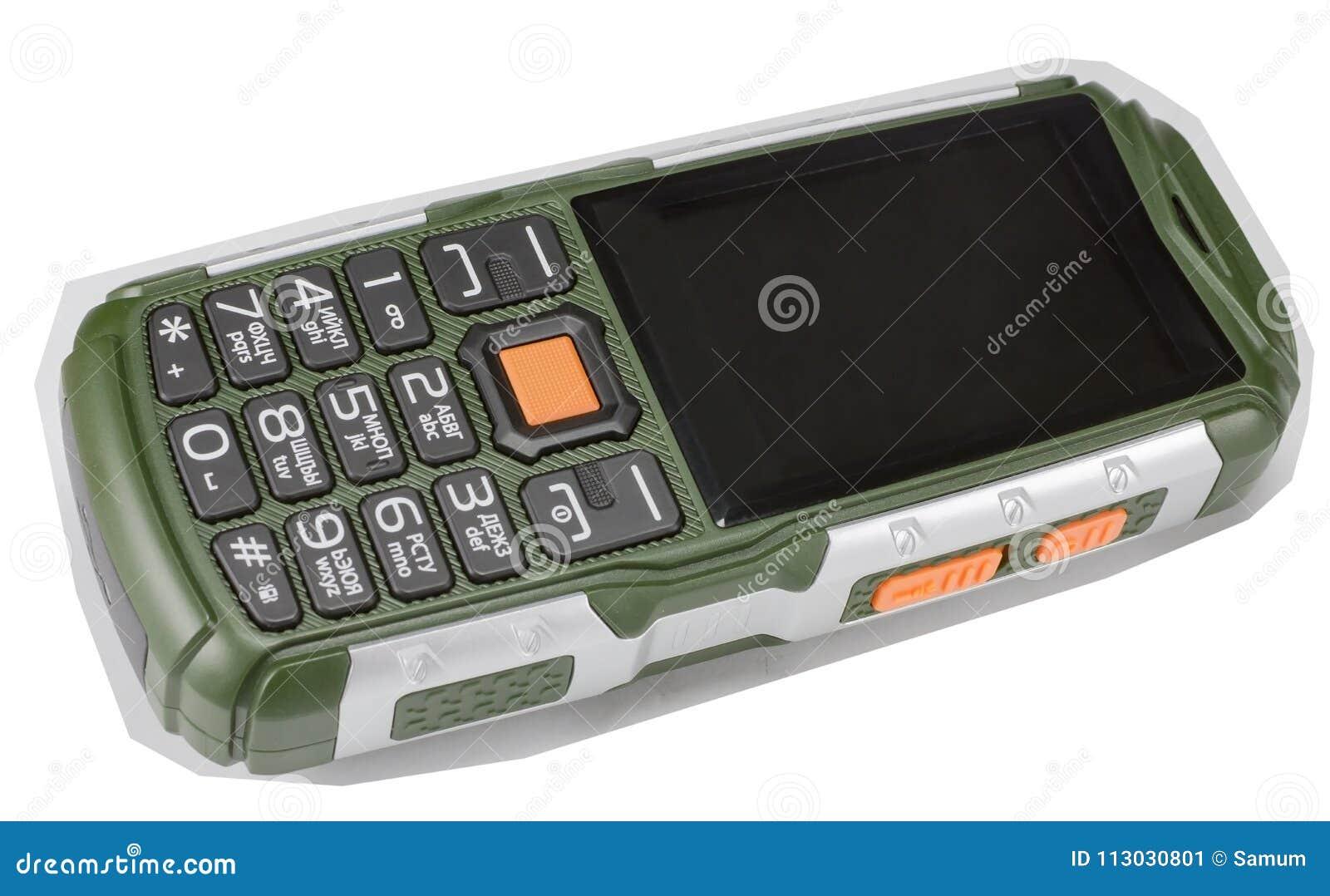 Teléfono portátil en un blanco