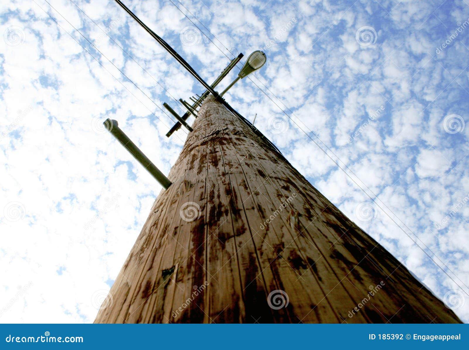 Teléfono poste de la luz de calle