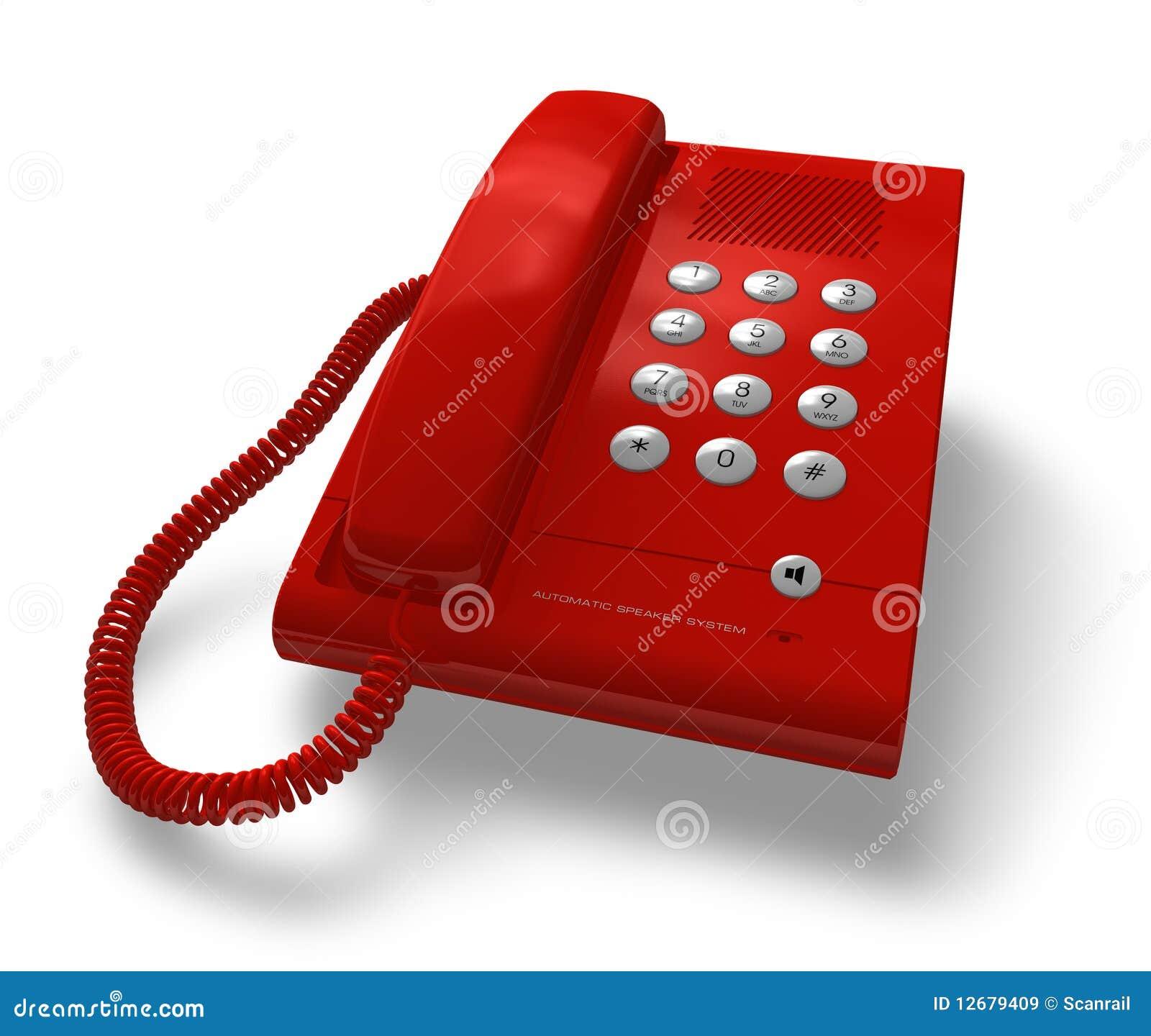 Tel fono rojo de la oficina im genes de archivo libres de for Telefono de oficinas