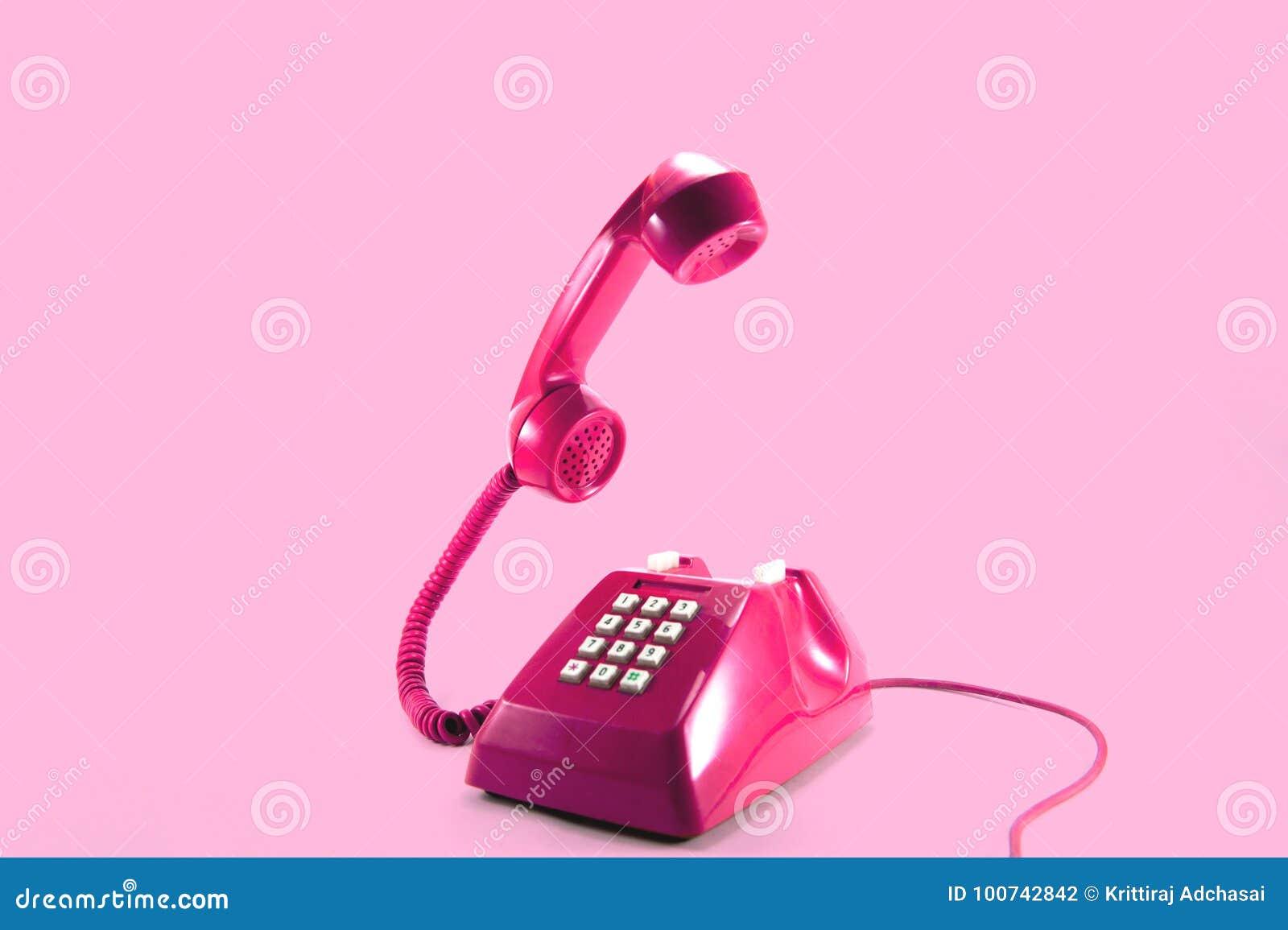Teléfono rosado