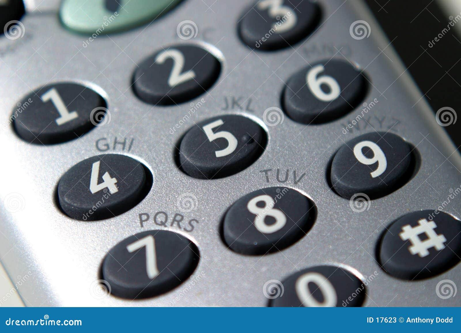 Teléfono, telclado numérico